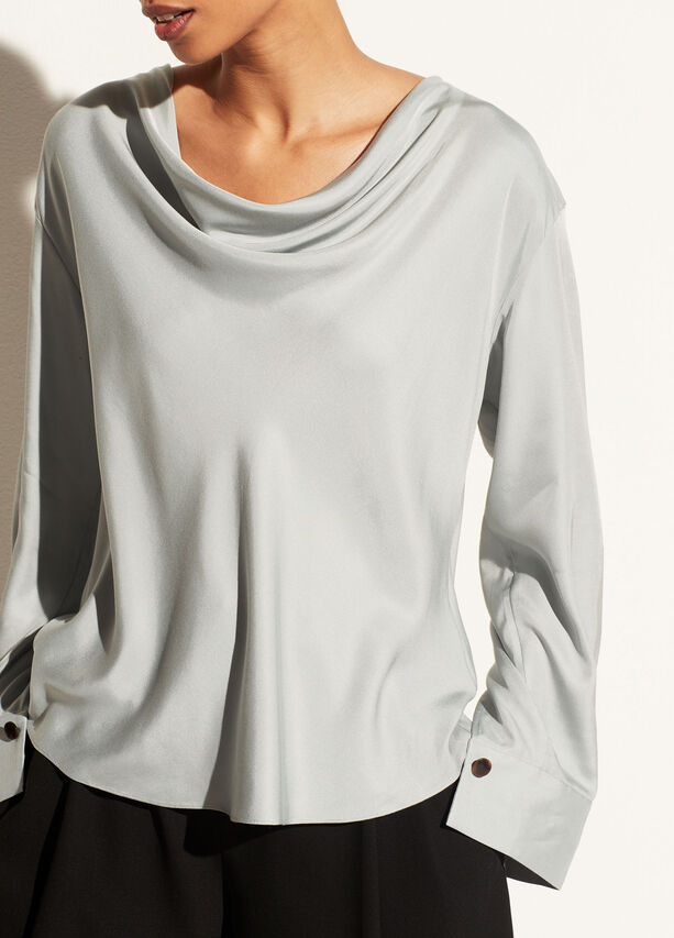 Vince Draped Cowl Neck Pullover