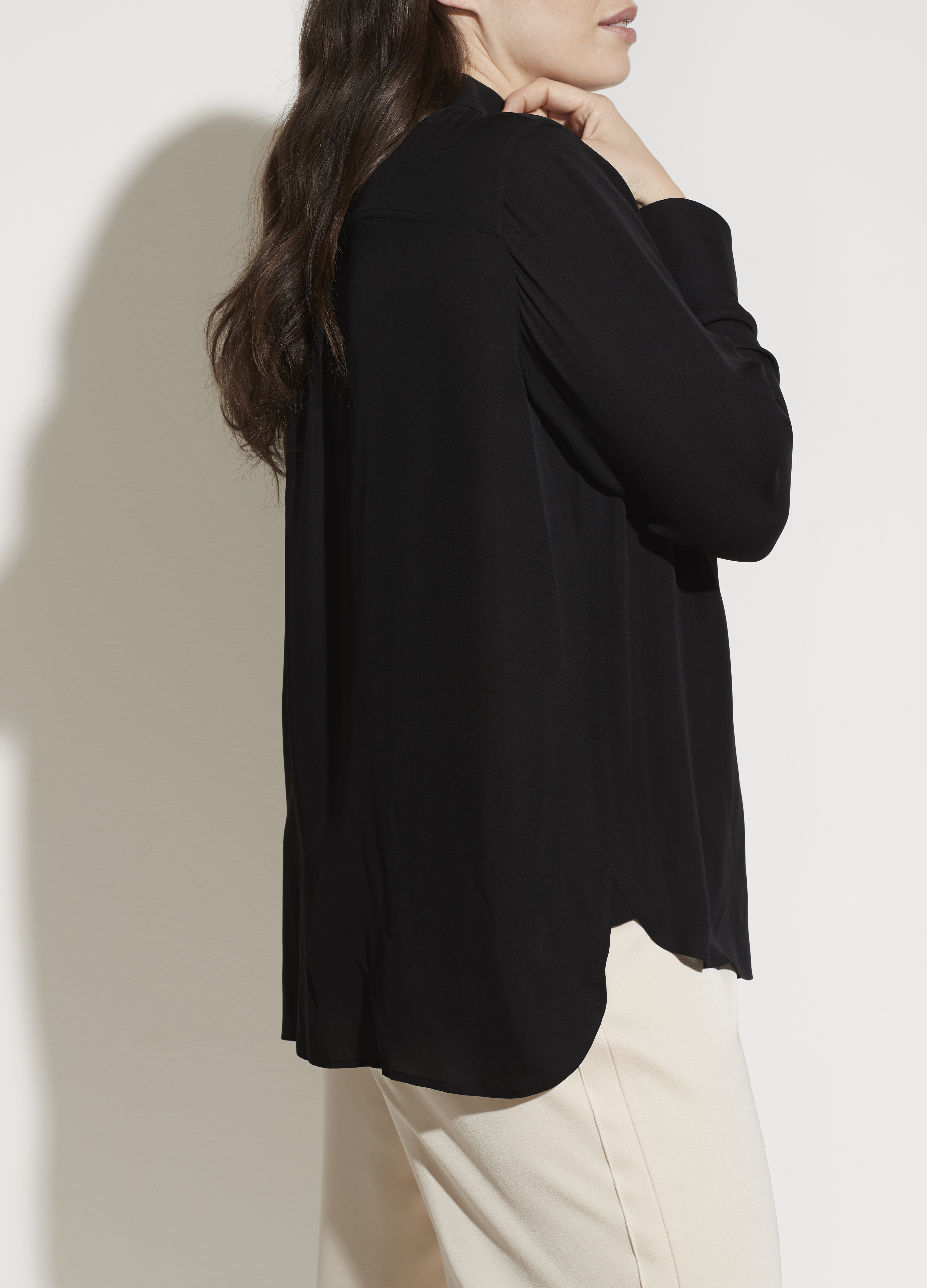 Fitted Stretch-Silk Blouse