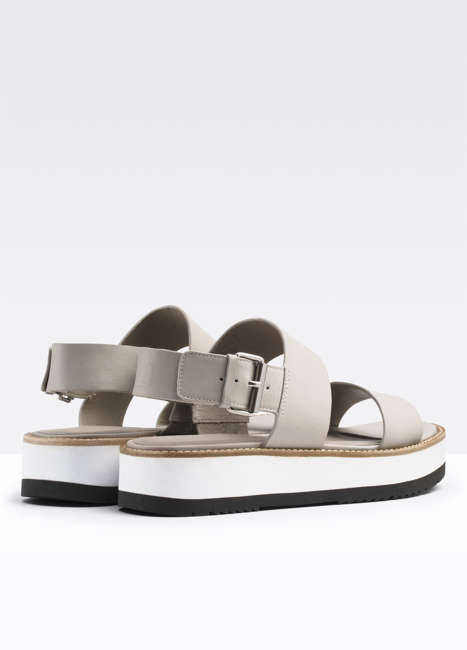 360a7d6893a Mana Leather Flatform Sandal for Women