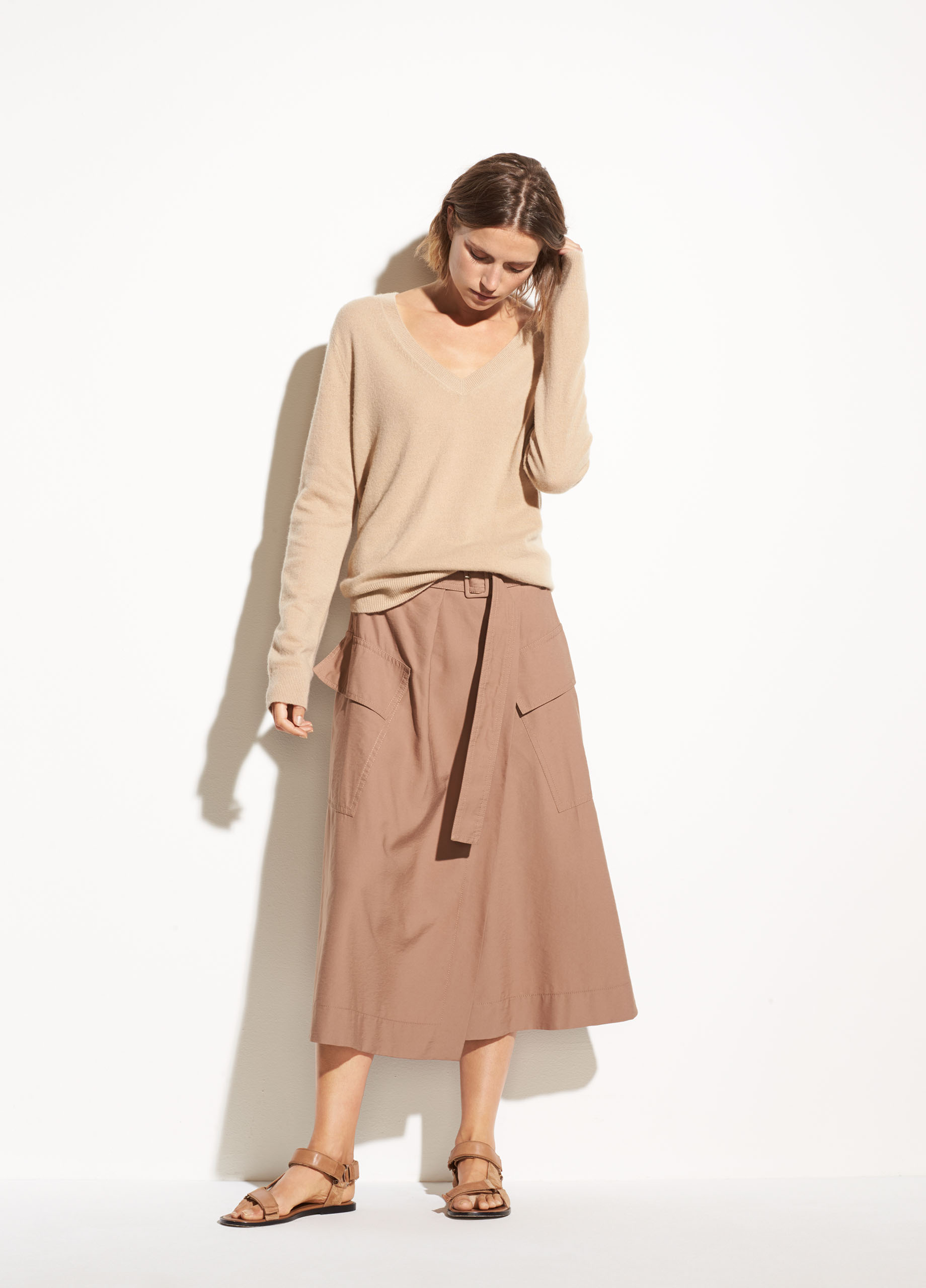 Mixed Rib Cashmere Long Sleeve