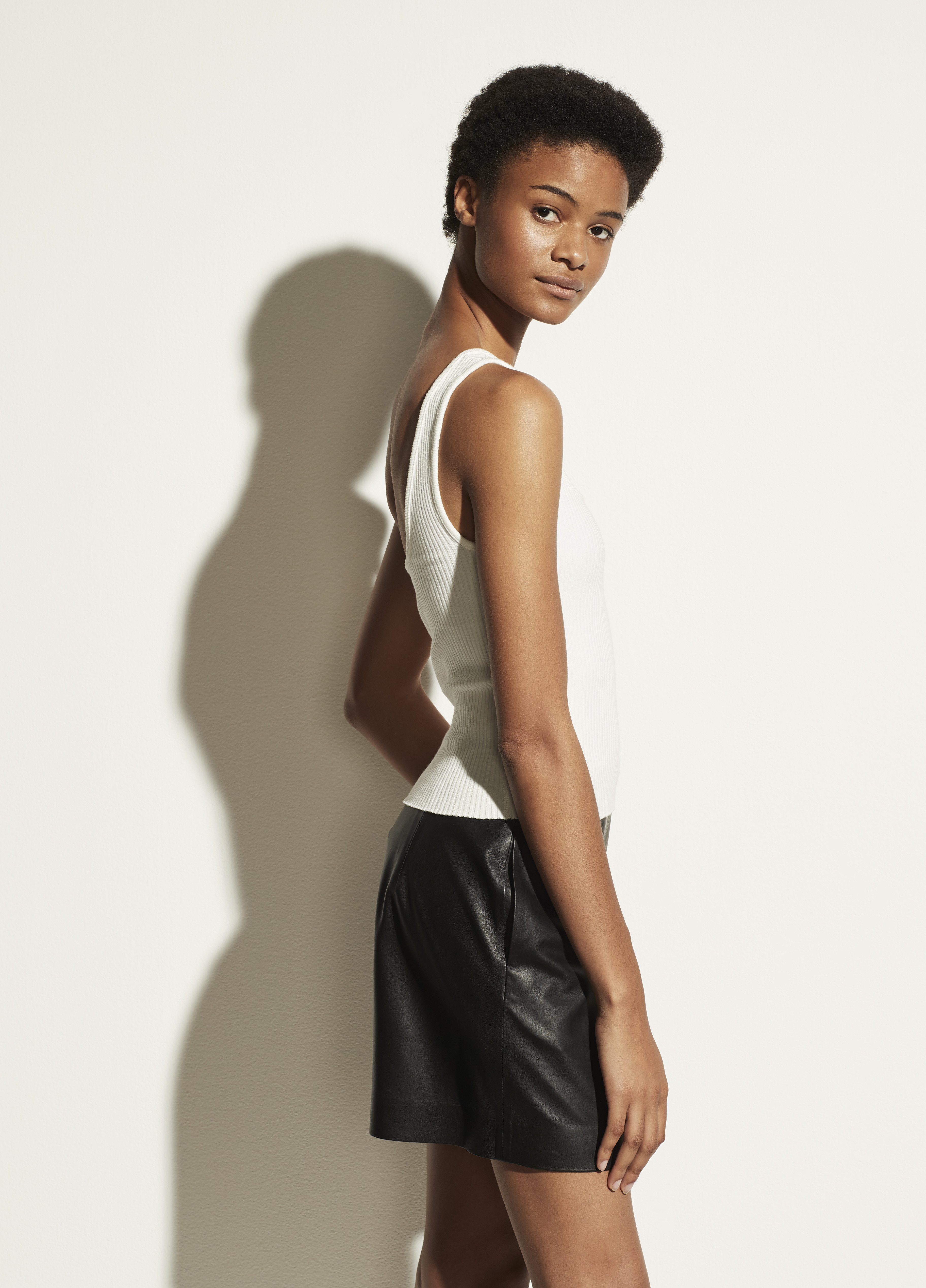 Ribbed Square Neck Camisole