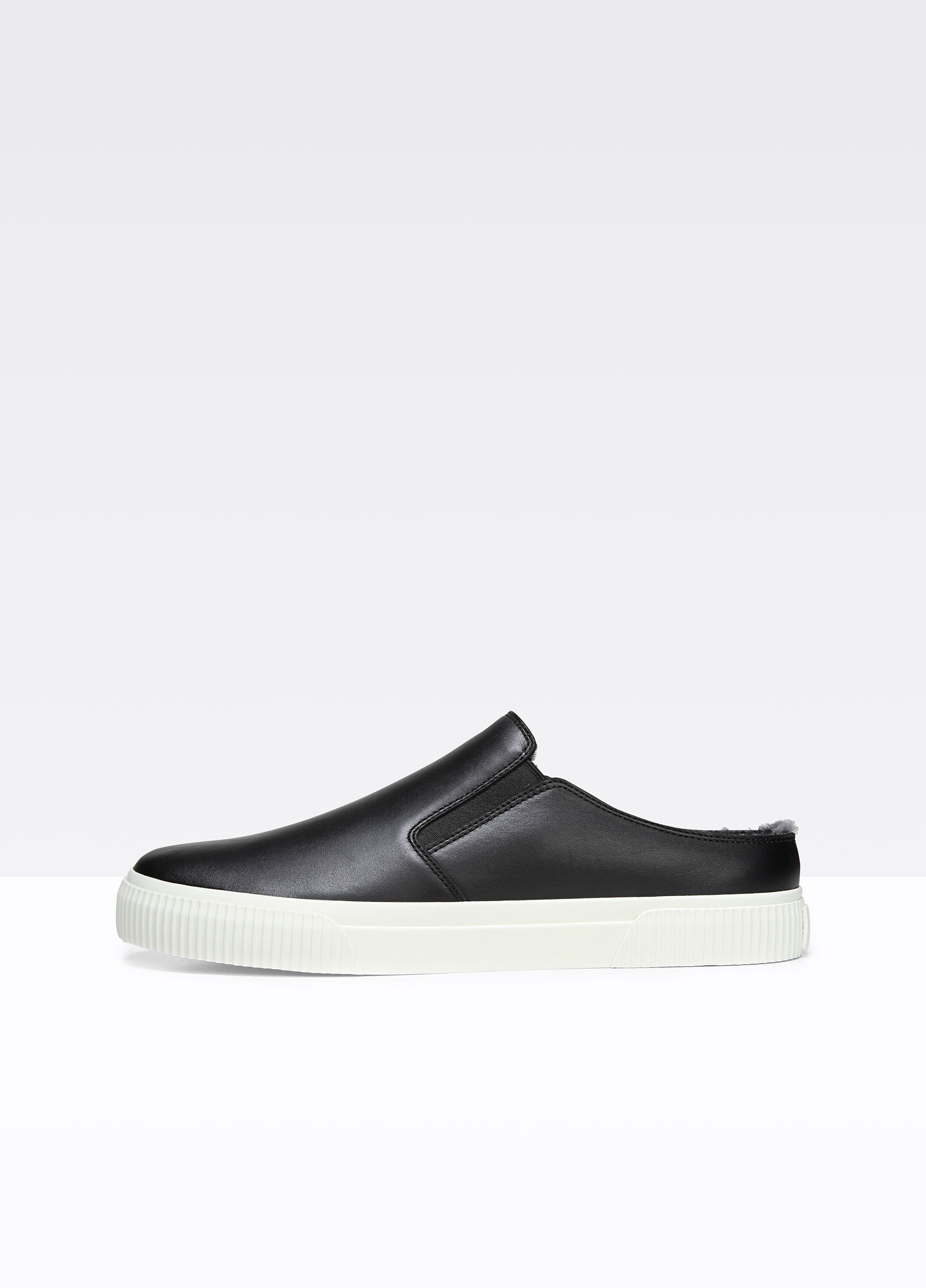 Vince Leather & Shearling Slip-On Sneakers clearance online cheap real nOOFQAXW