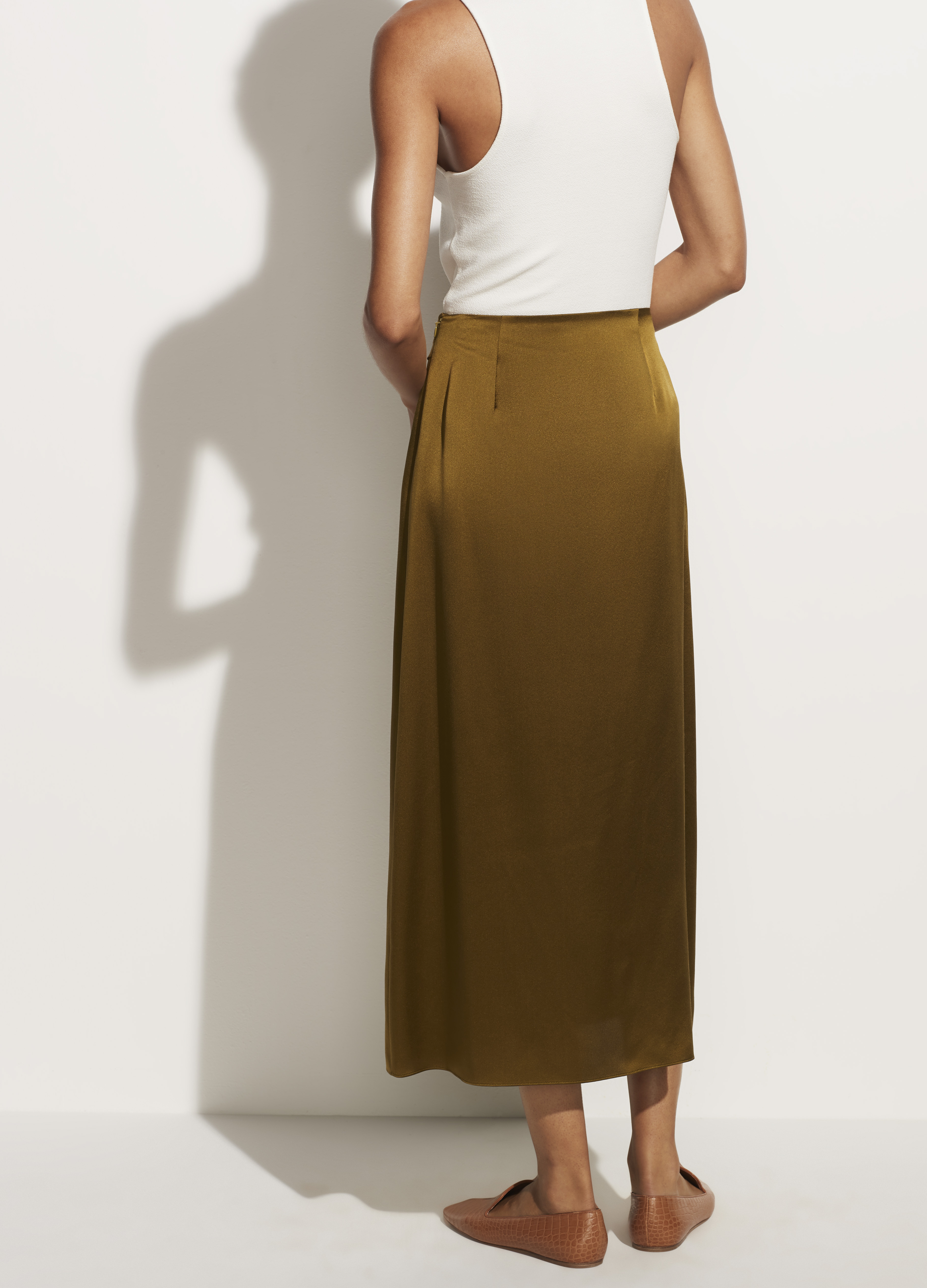Side Pleat Wrap Skirt