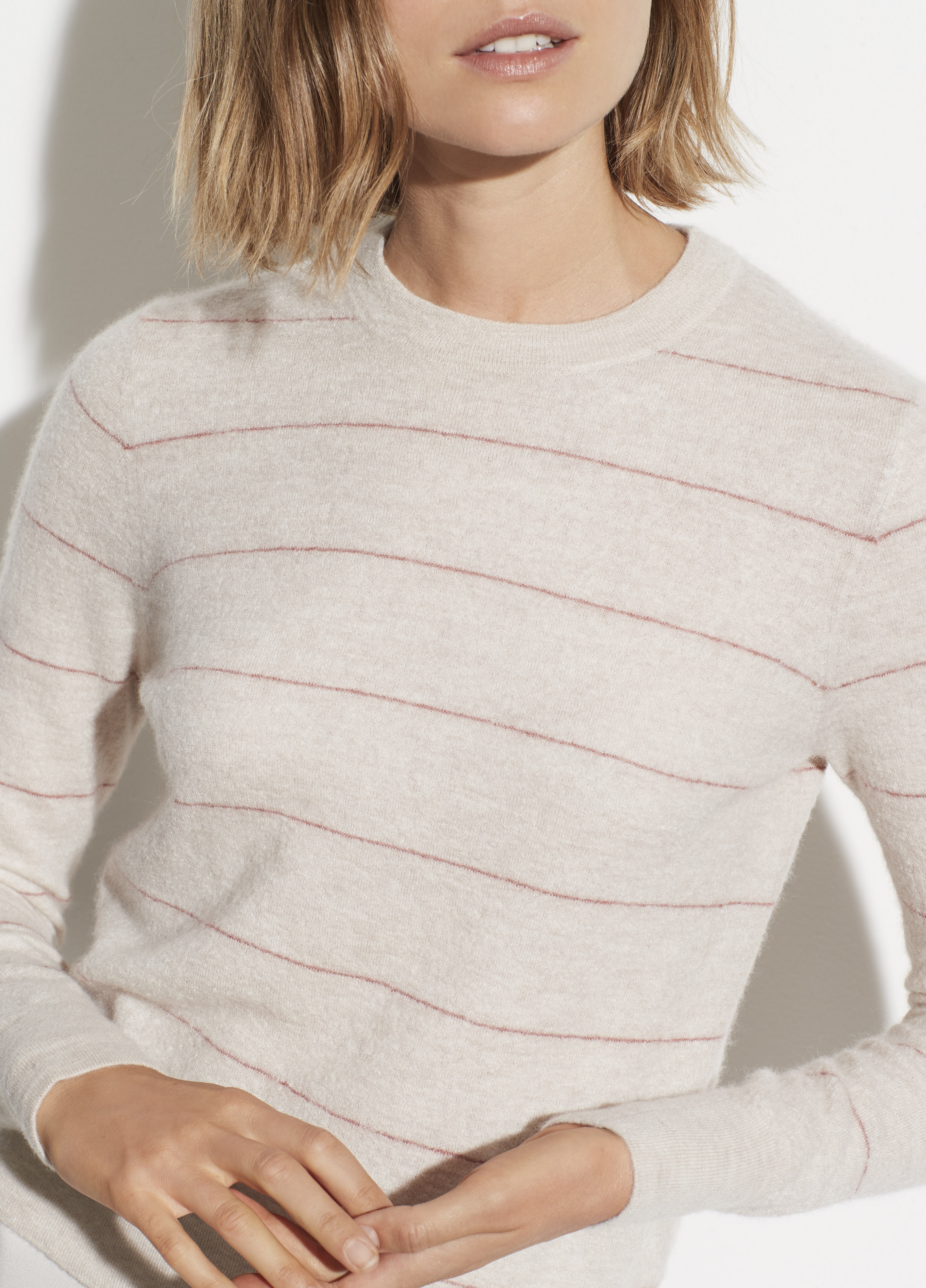 Wool Cashmere Ribbed Back Cardigan