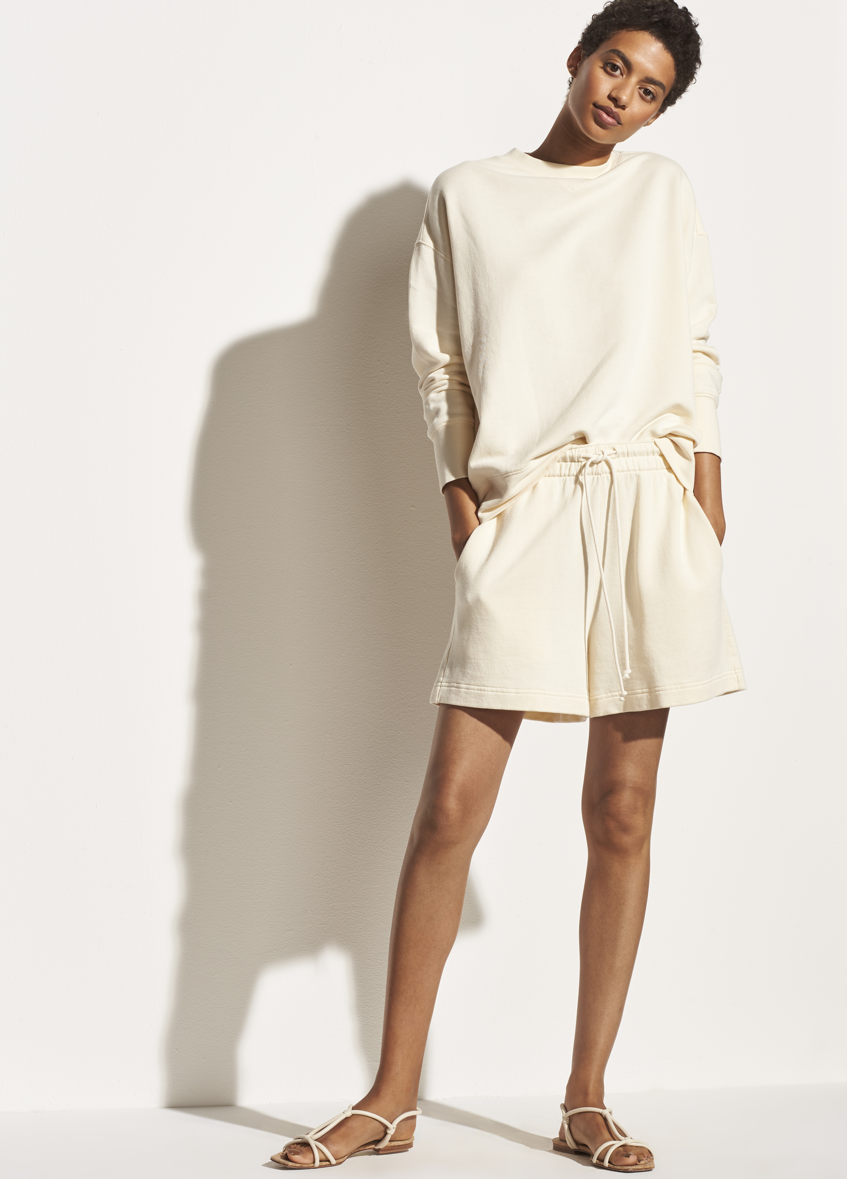 French Terry Drop Shoulder Pullover