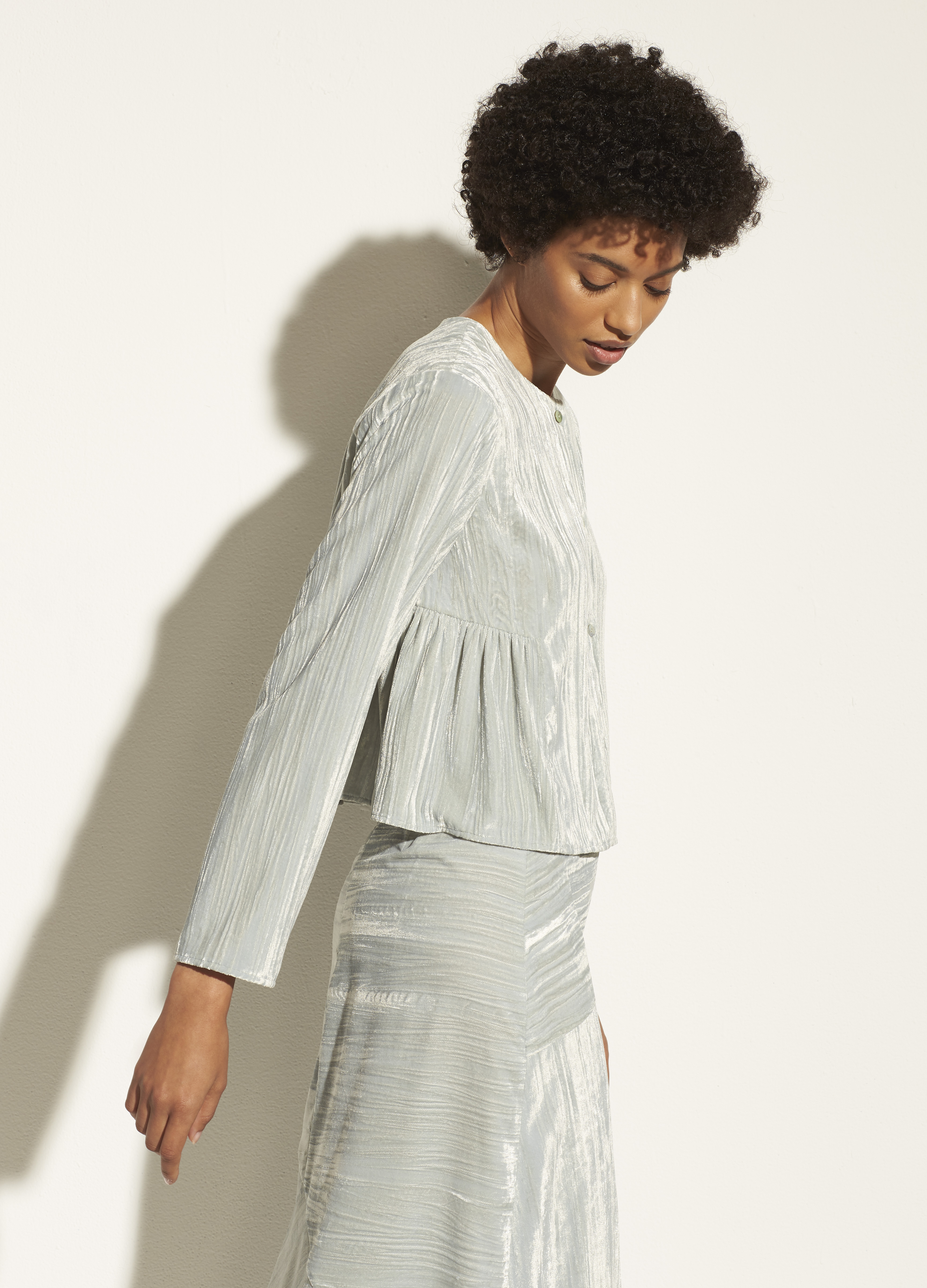 Ruched Paneled Blouse