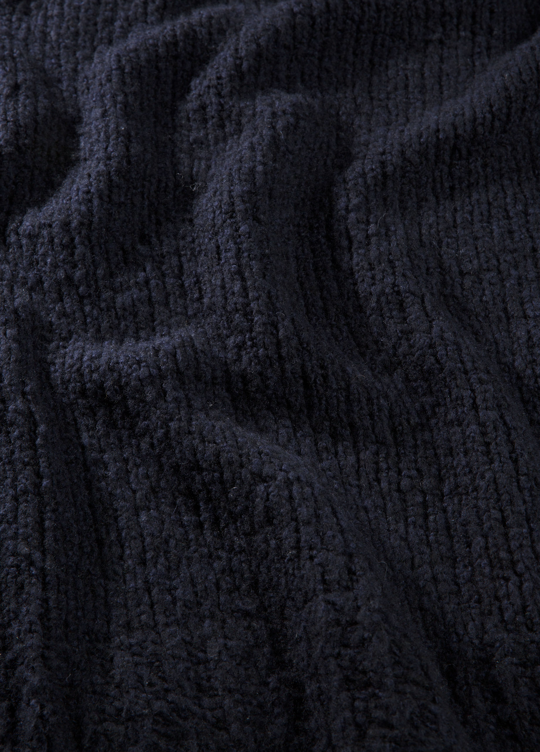 Fringed Ribbed Wool and Cashmere Blanket