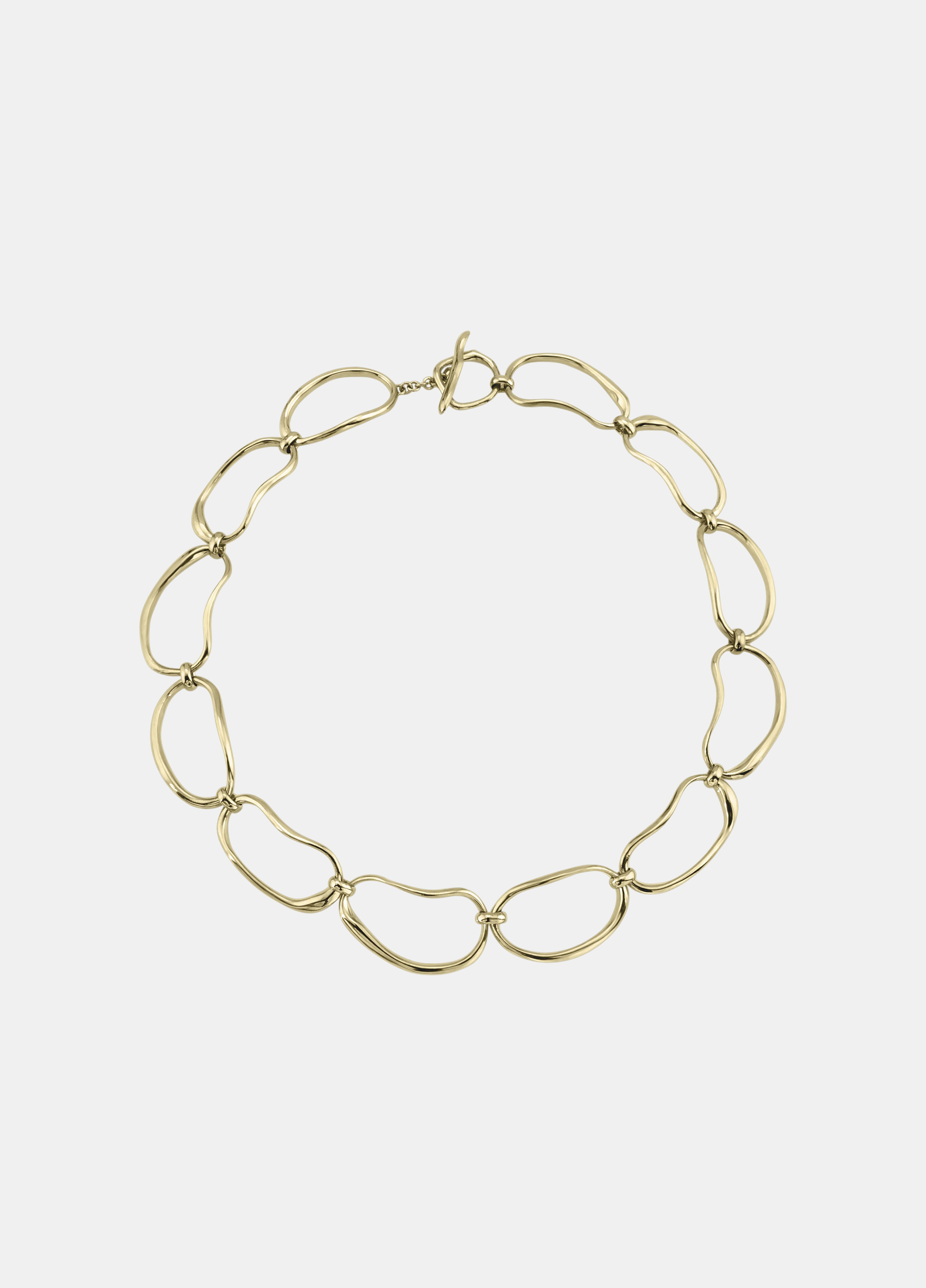 Modern Weaving / Hand Formed Oval Link Chain Necklace