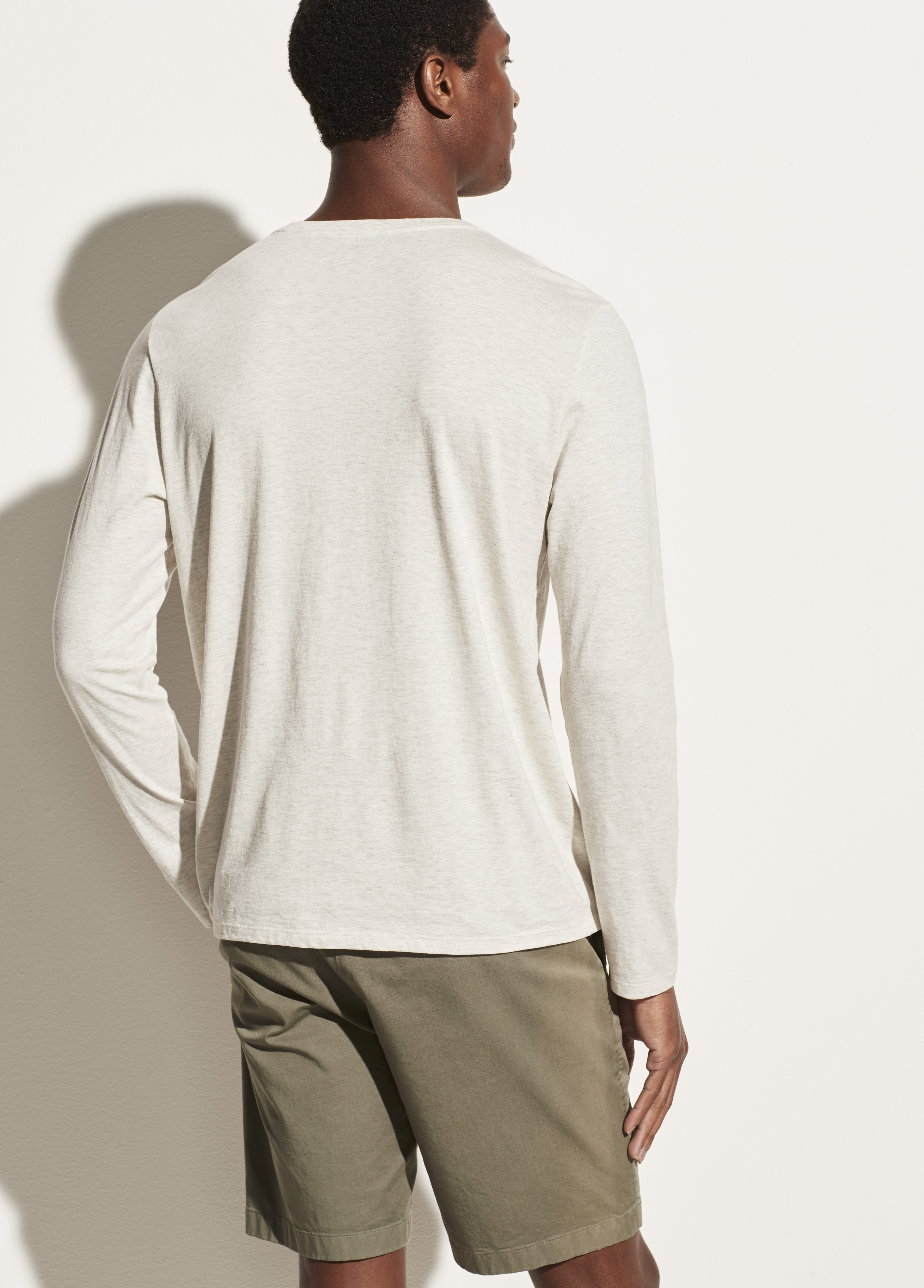 Pima Cotton Long Sleeve Crew