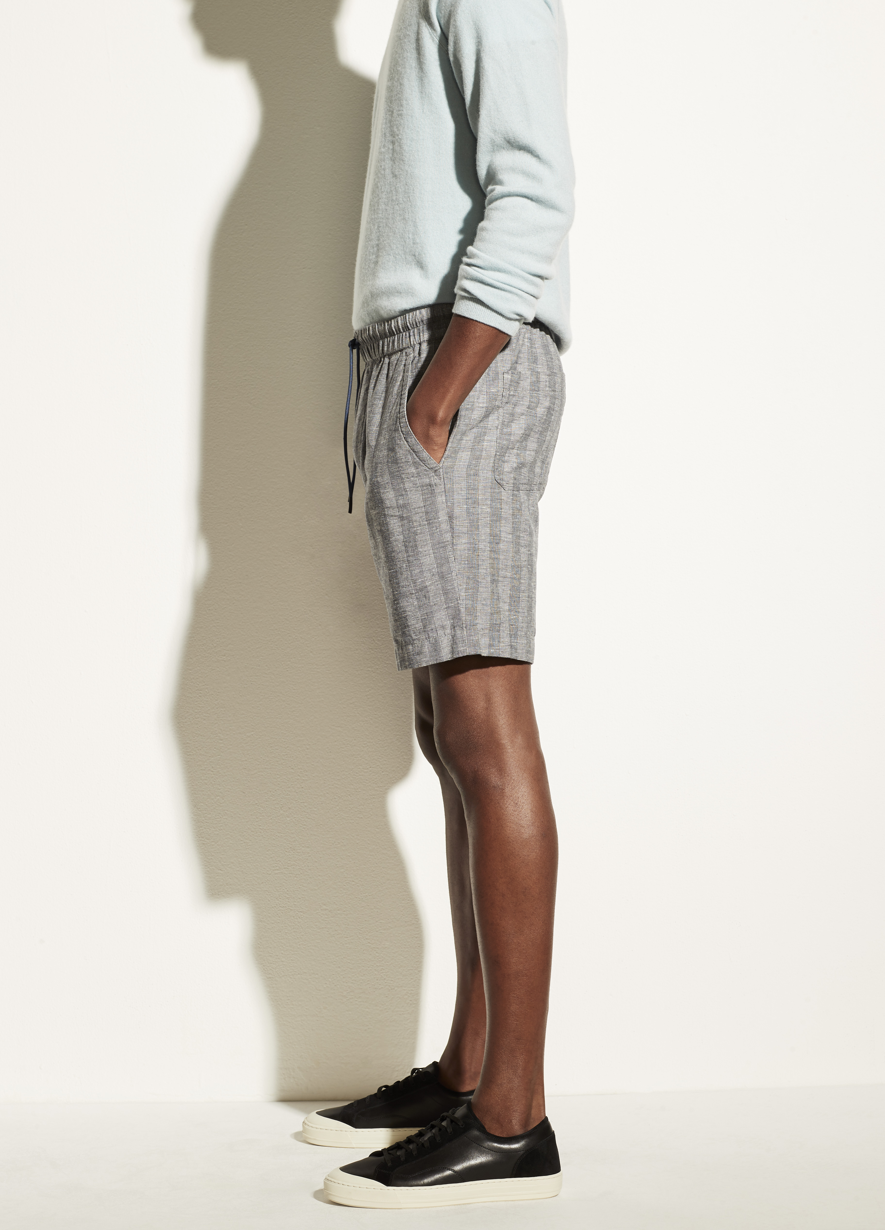 Textured Stripe Pull On Short