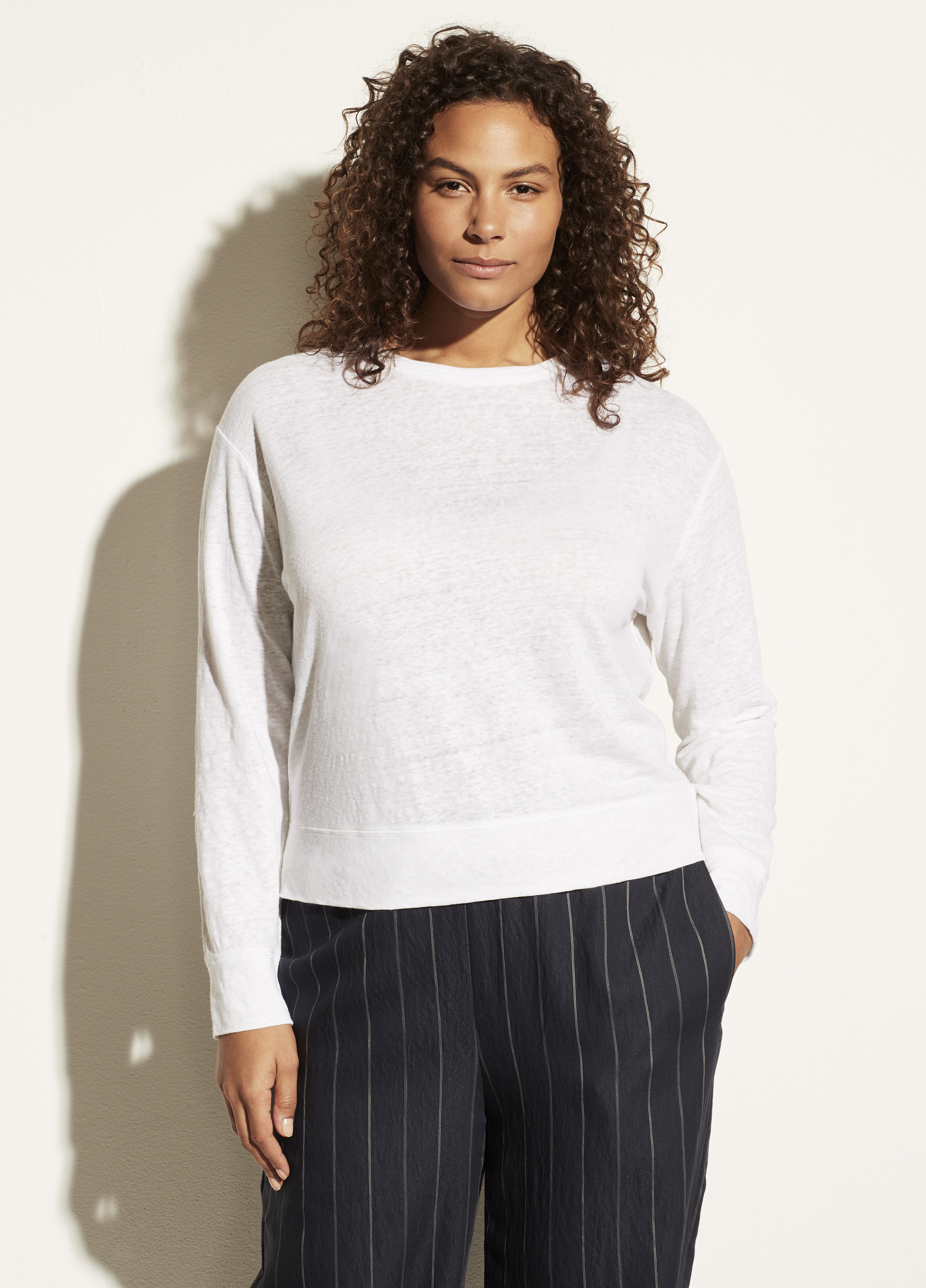 Linen Long Sleeve Pullover