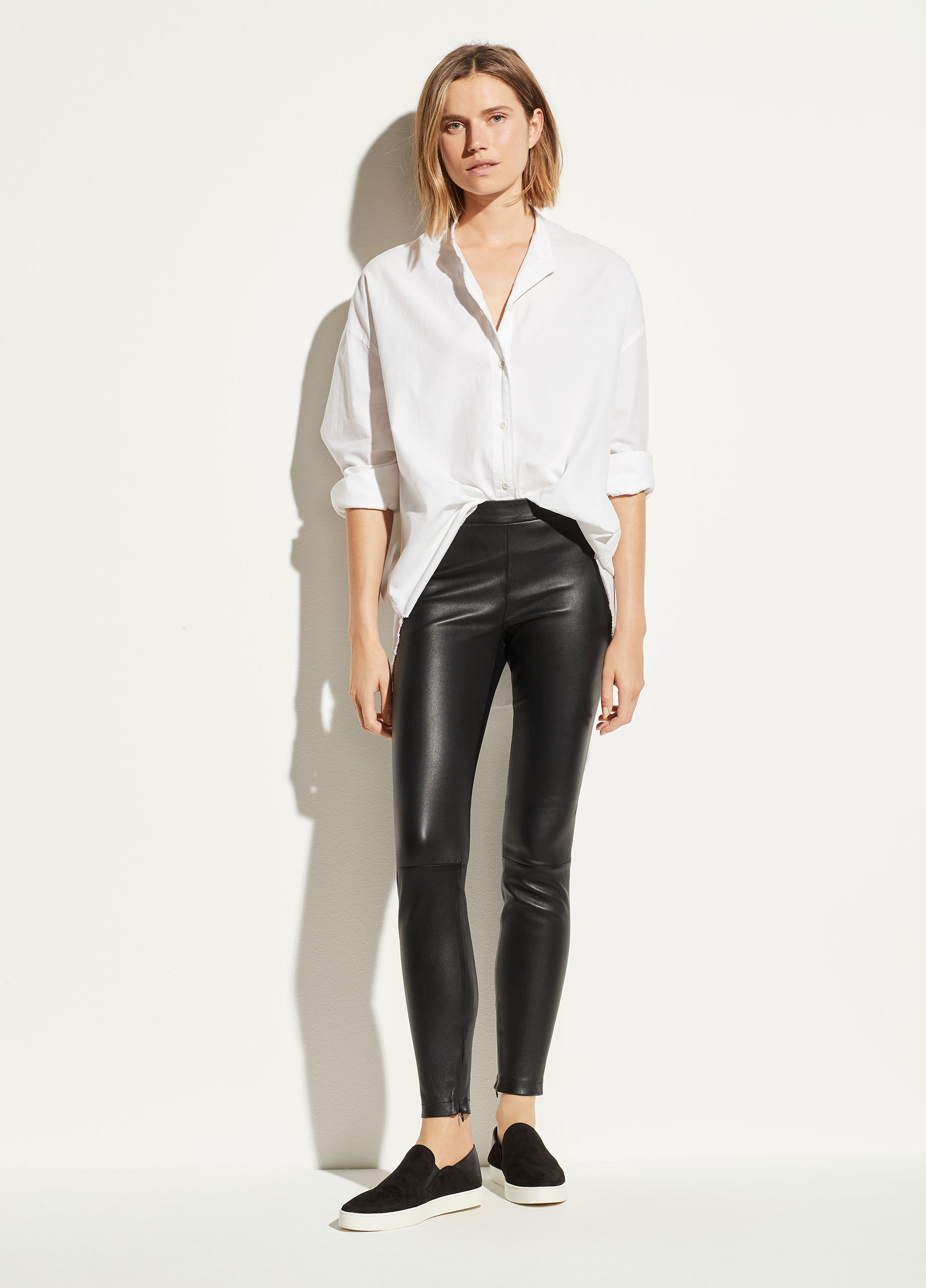 Leather Zip Legging