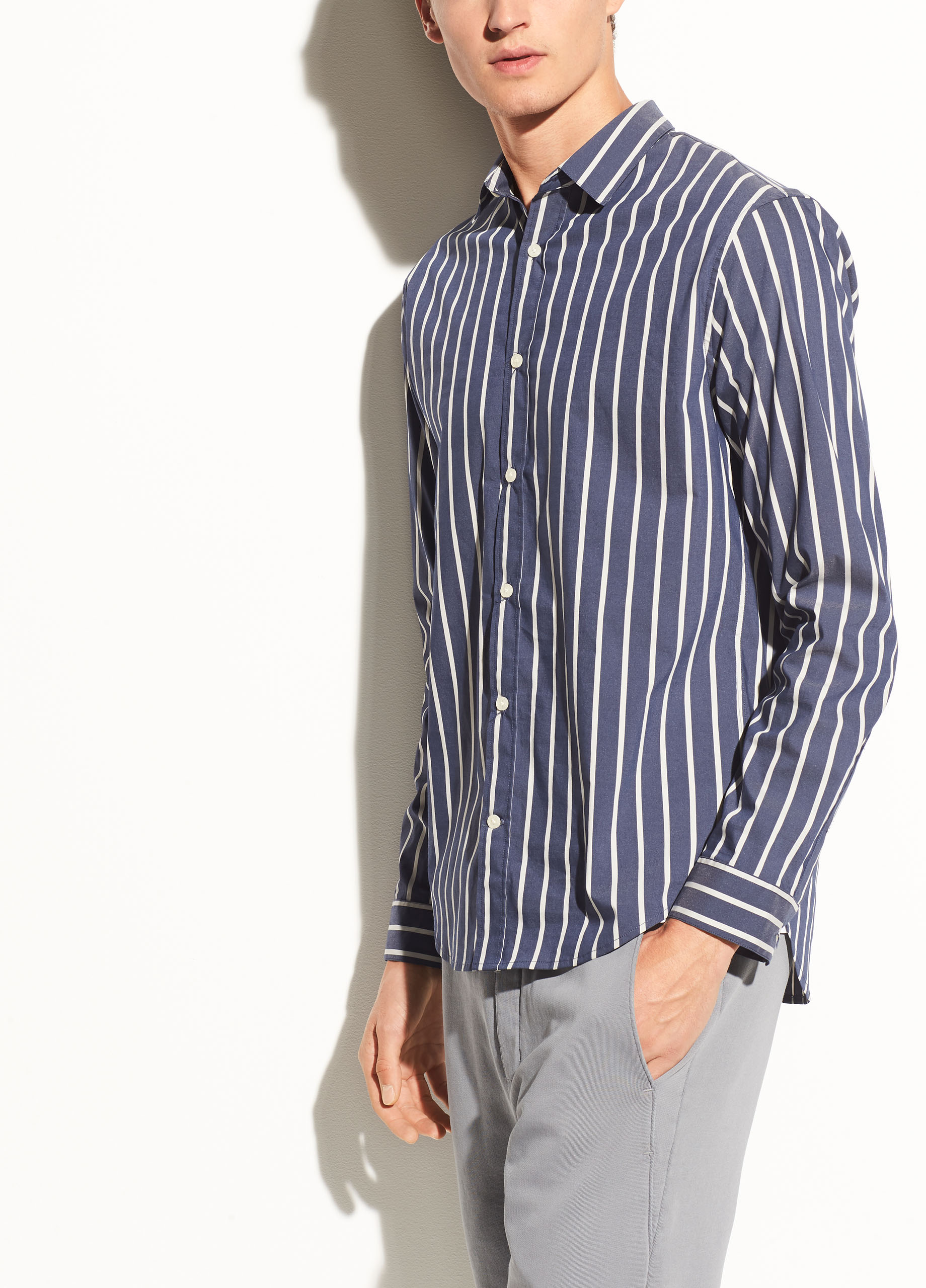 Mens Stretch-Cotton Shirt Vince Outlet Top Quality Limit Discount Free Shipping Newest Clearance Get To Buy Marketable bxSsw