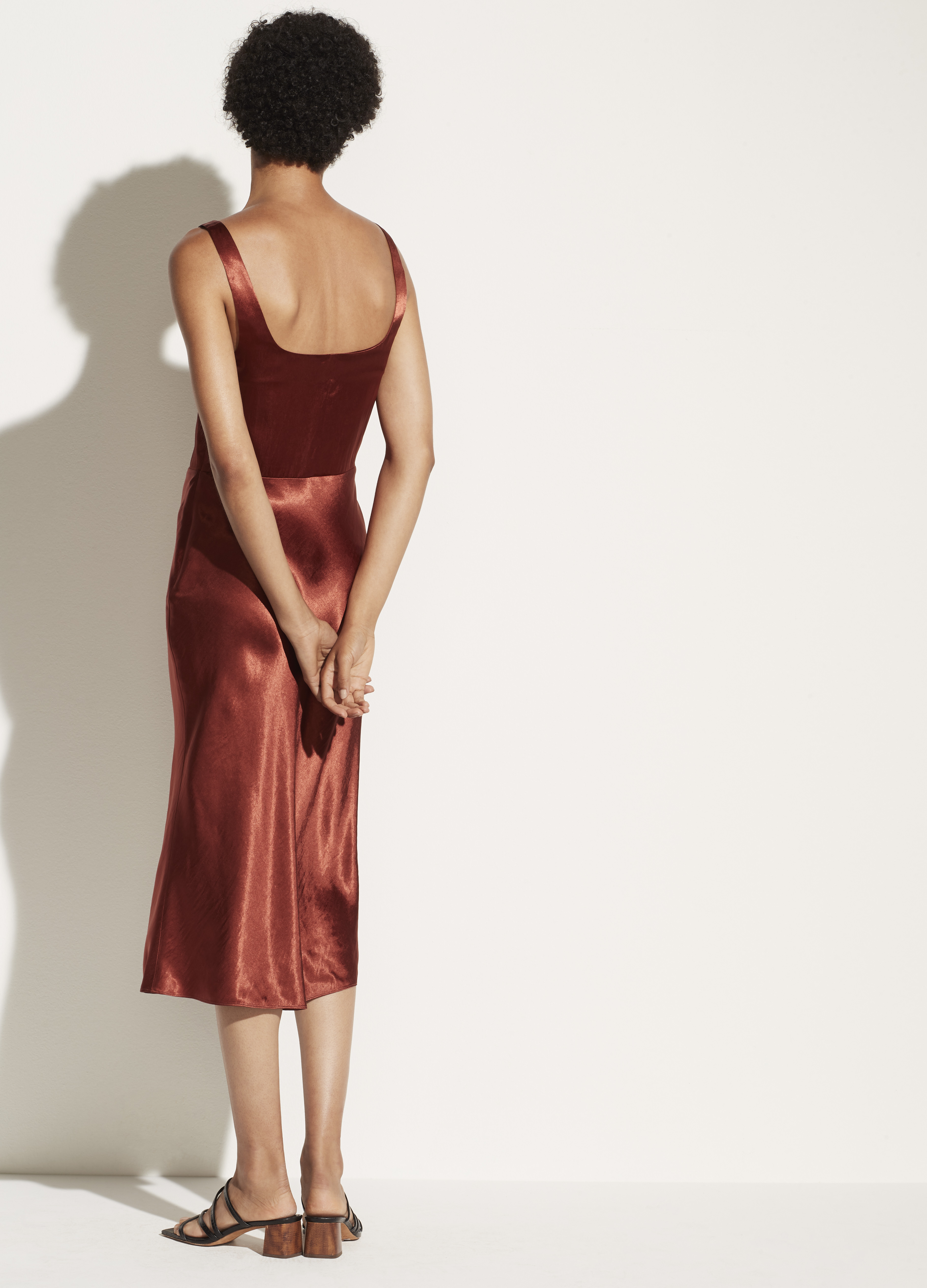 Fitted Satin Slip Dress