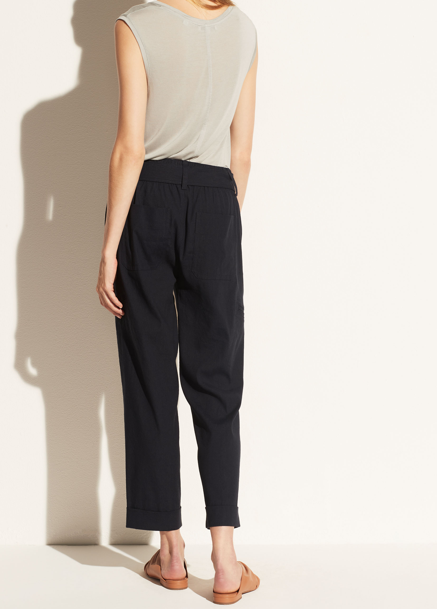 Belted Linen Pant