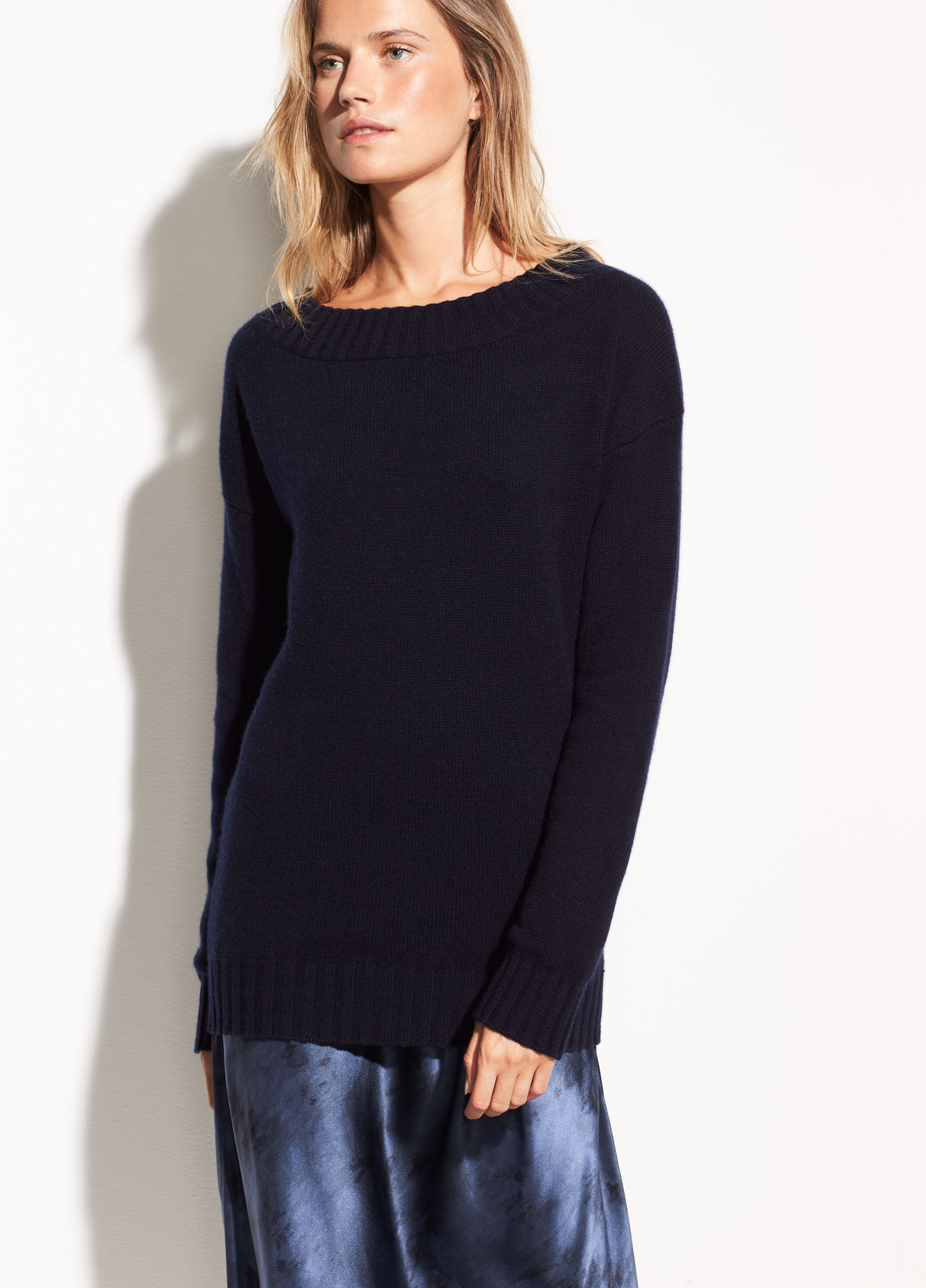 Off-the-Shoulder Wool and Cashmere Sweater for Women | Vince