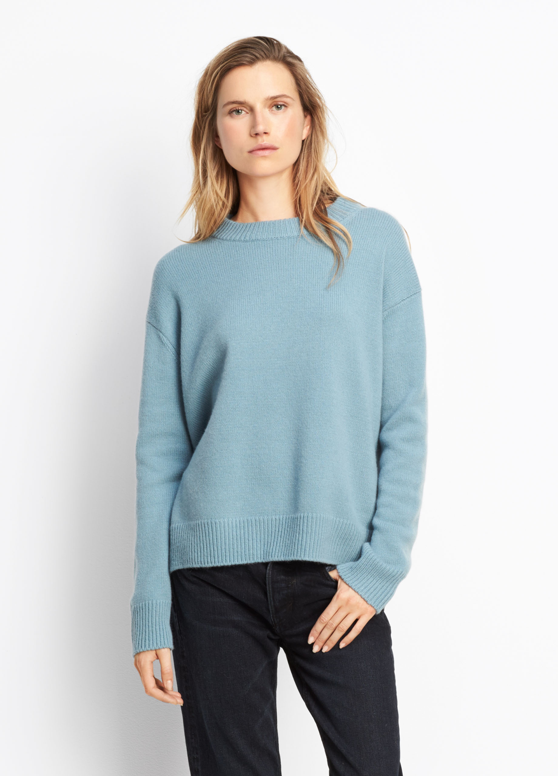 Cashmere Boxy Crew for Women | Vince