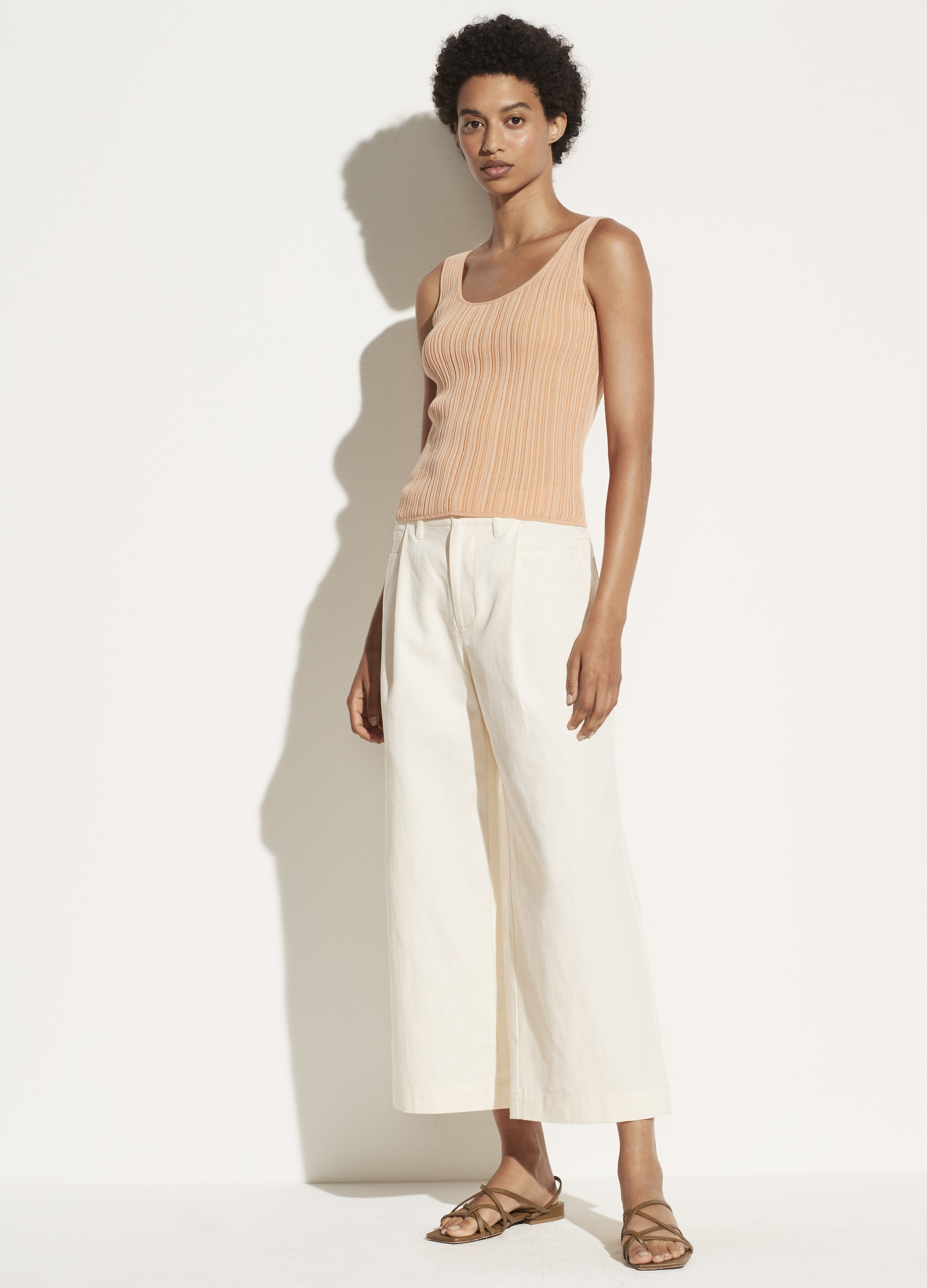 Ribbed Scoop Back Camisole
