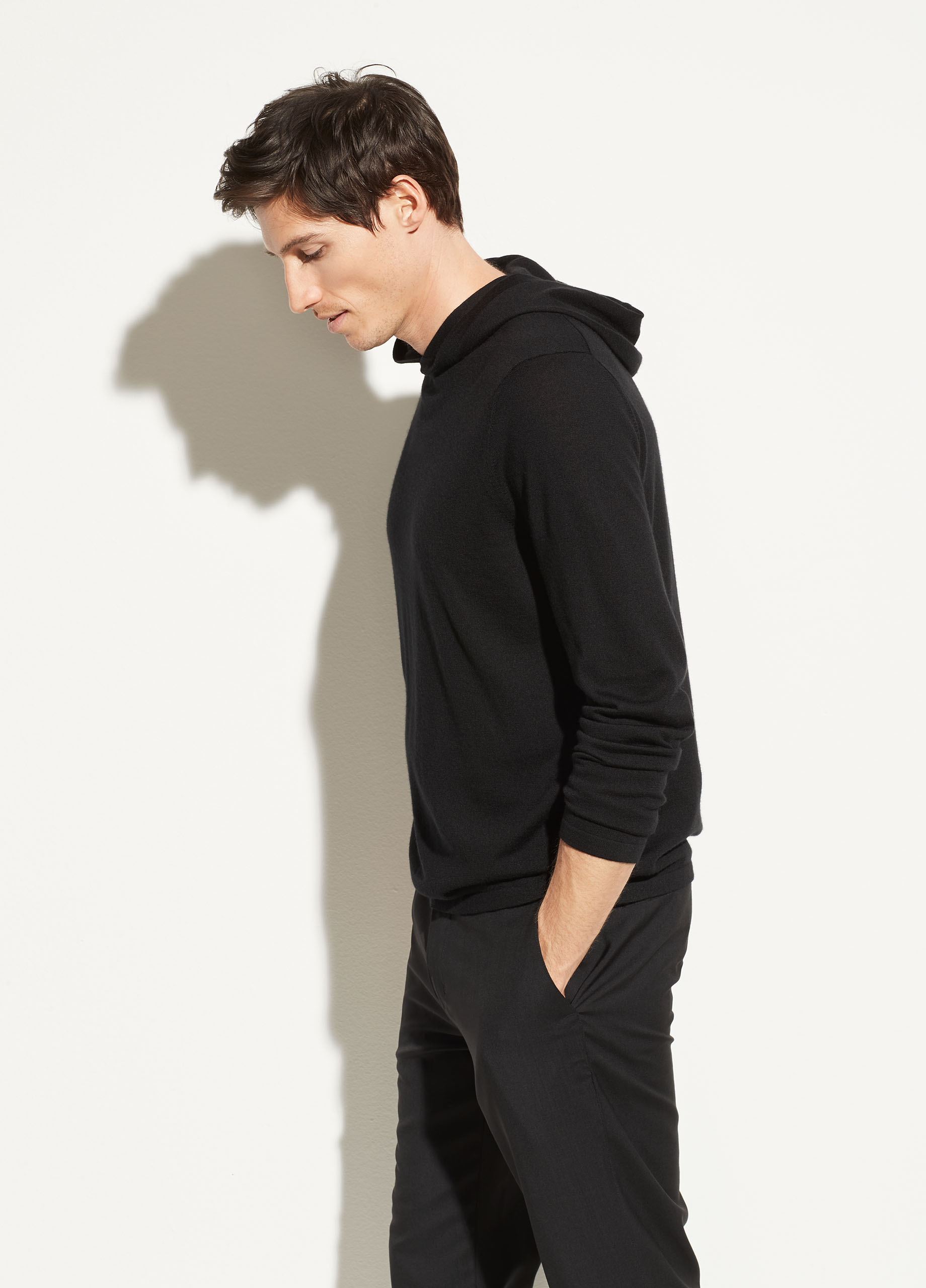 Featherweight Wool Cashmere Pullover Hoodie