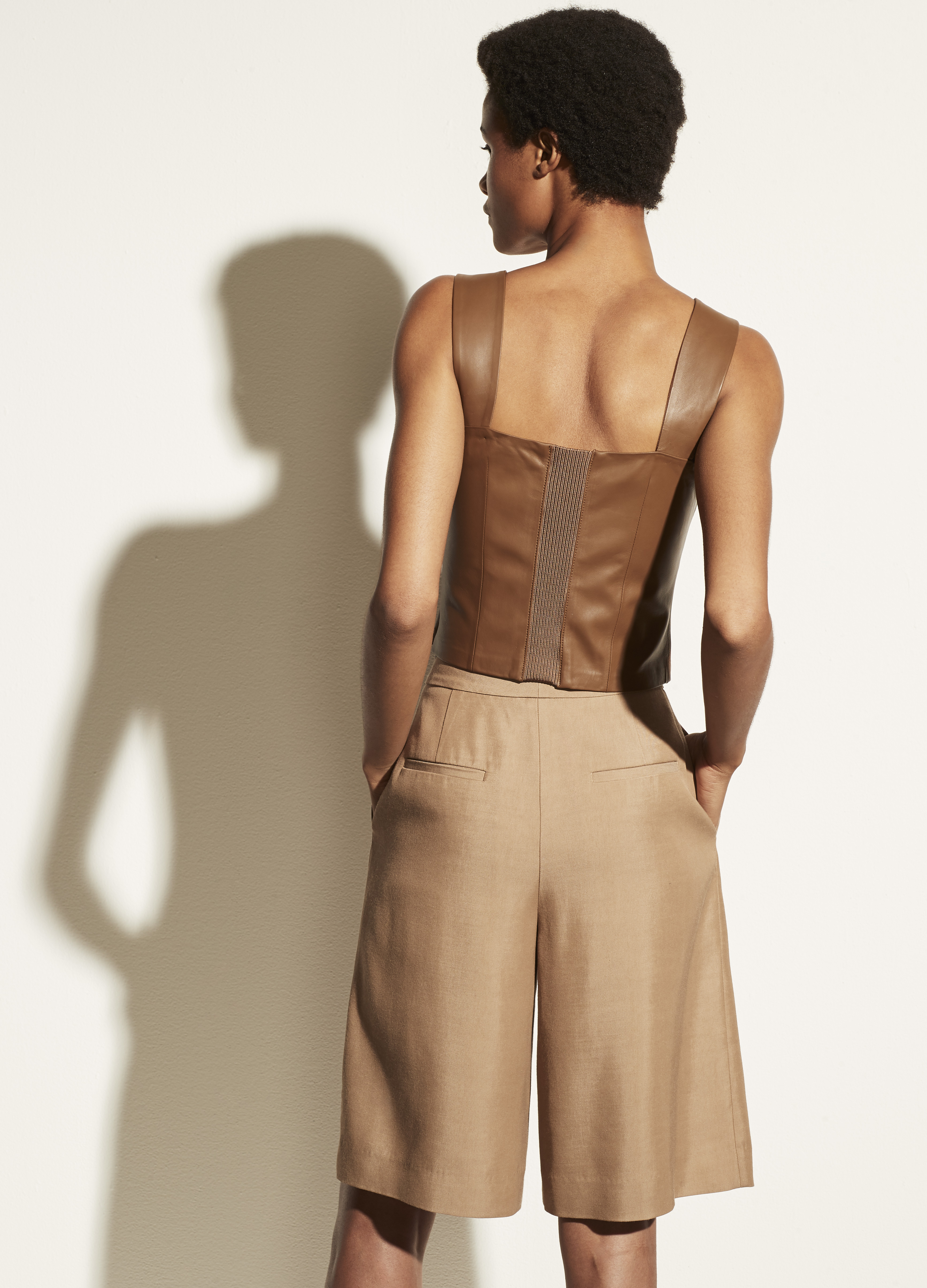Leather Cropped Tank