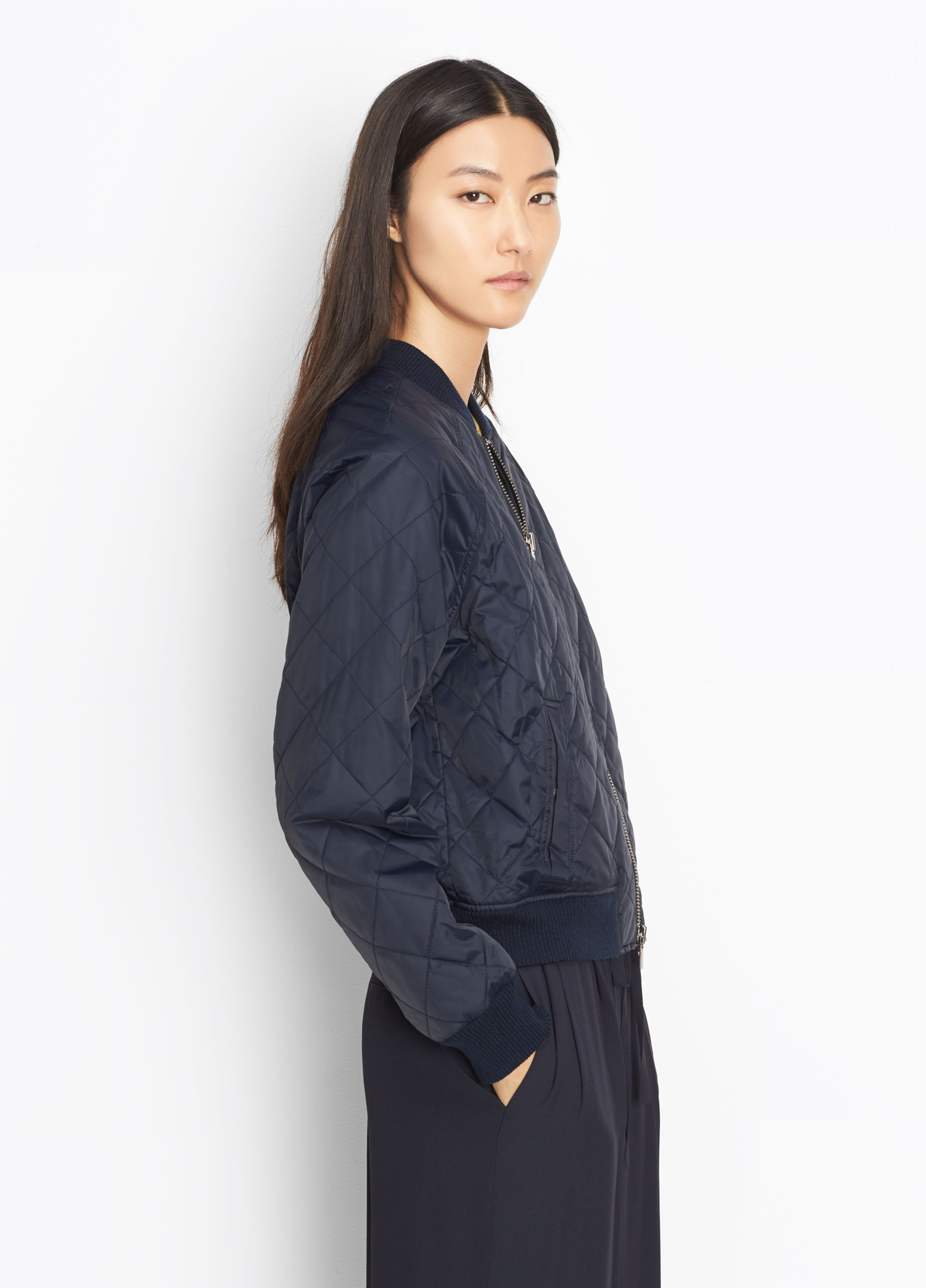 Quilted Bomber for Women | Vince : vince quilted jacket - Adamdwight.com