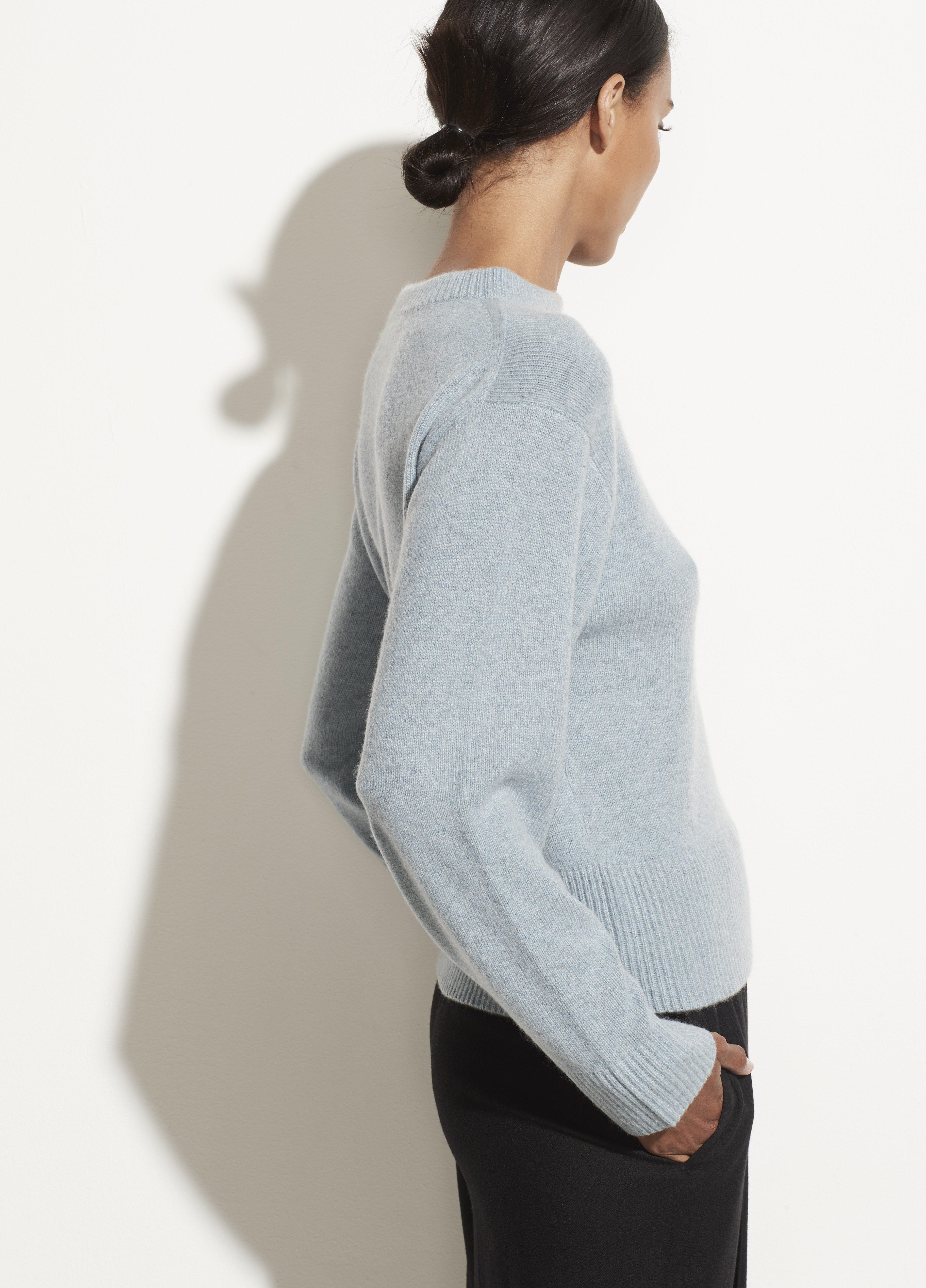 Cashmere Drop Shoulder Mock Neck