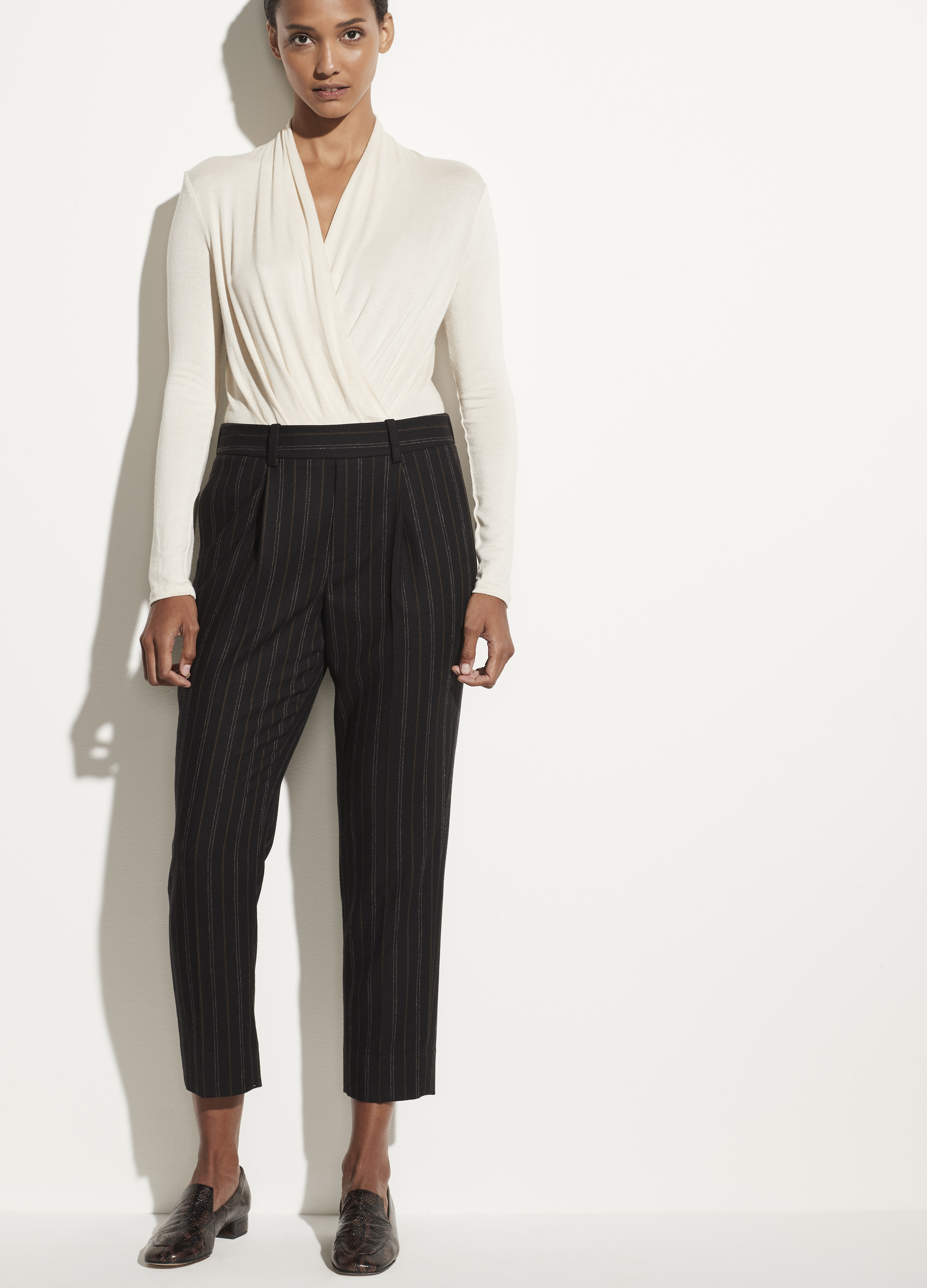 Flannel Stripe Pull On Pant