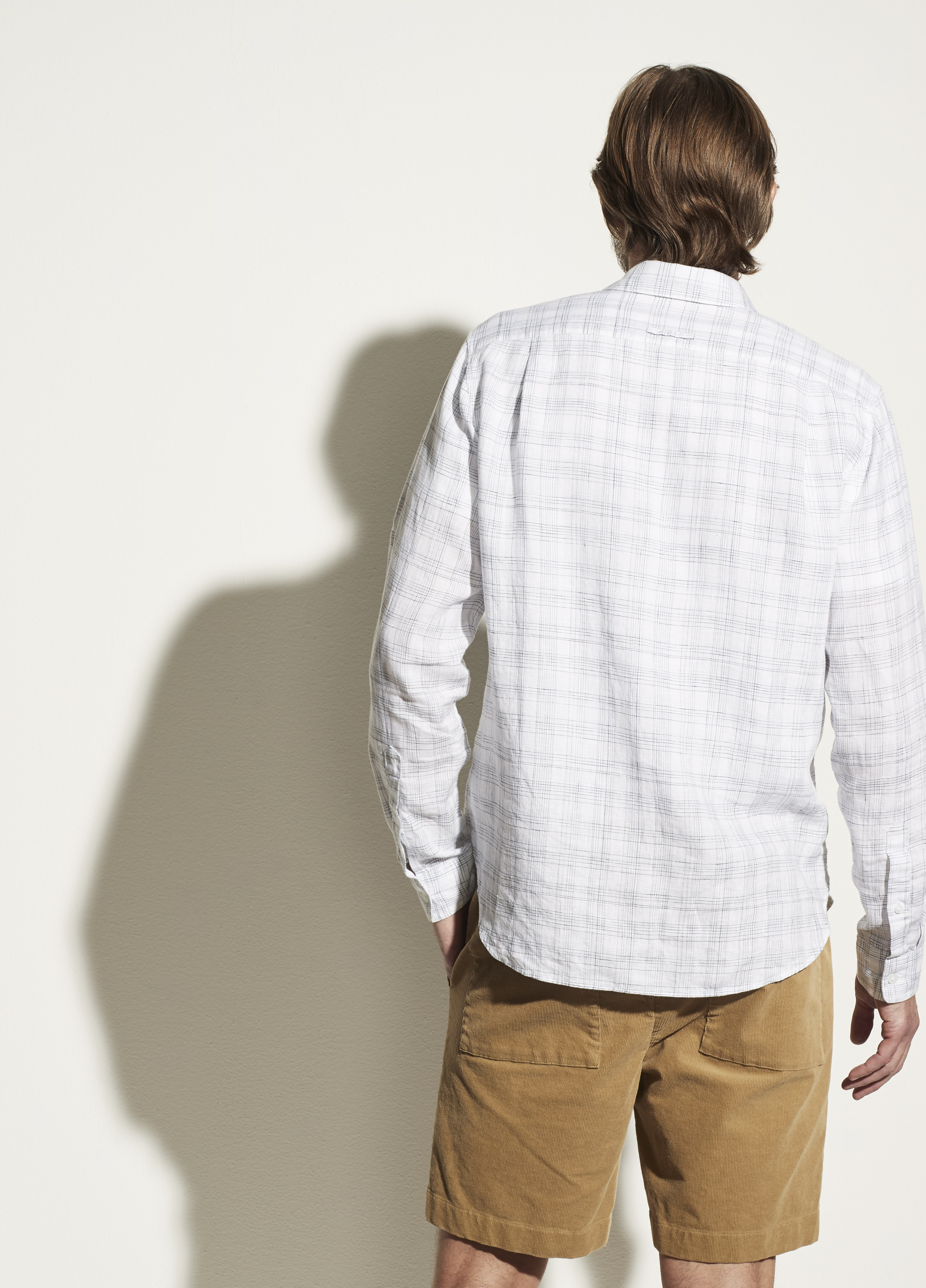 Linen Crosshatch Long Sleeve