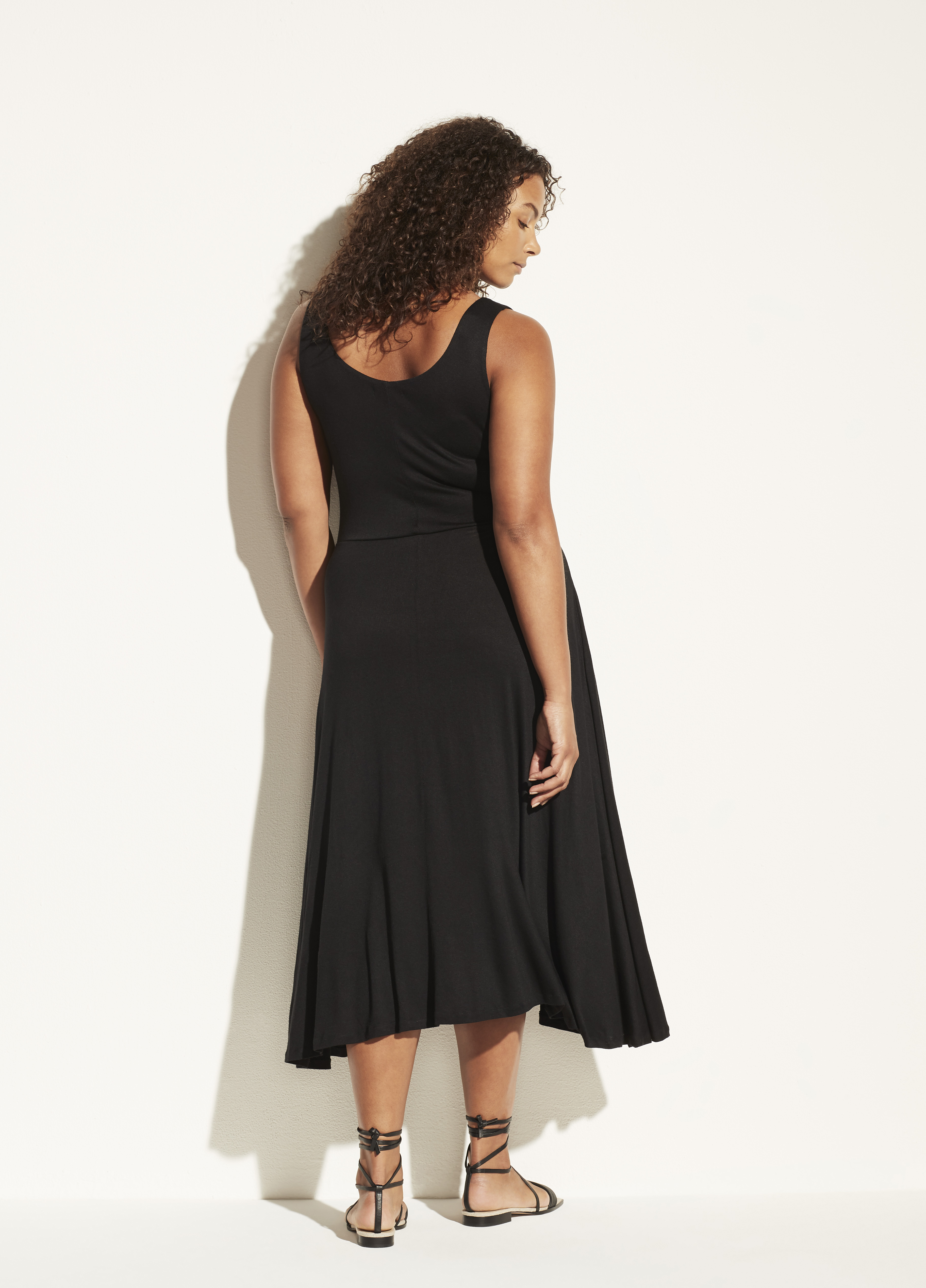 Full Skirt Square Neck Dress