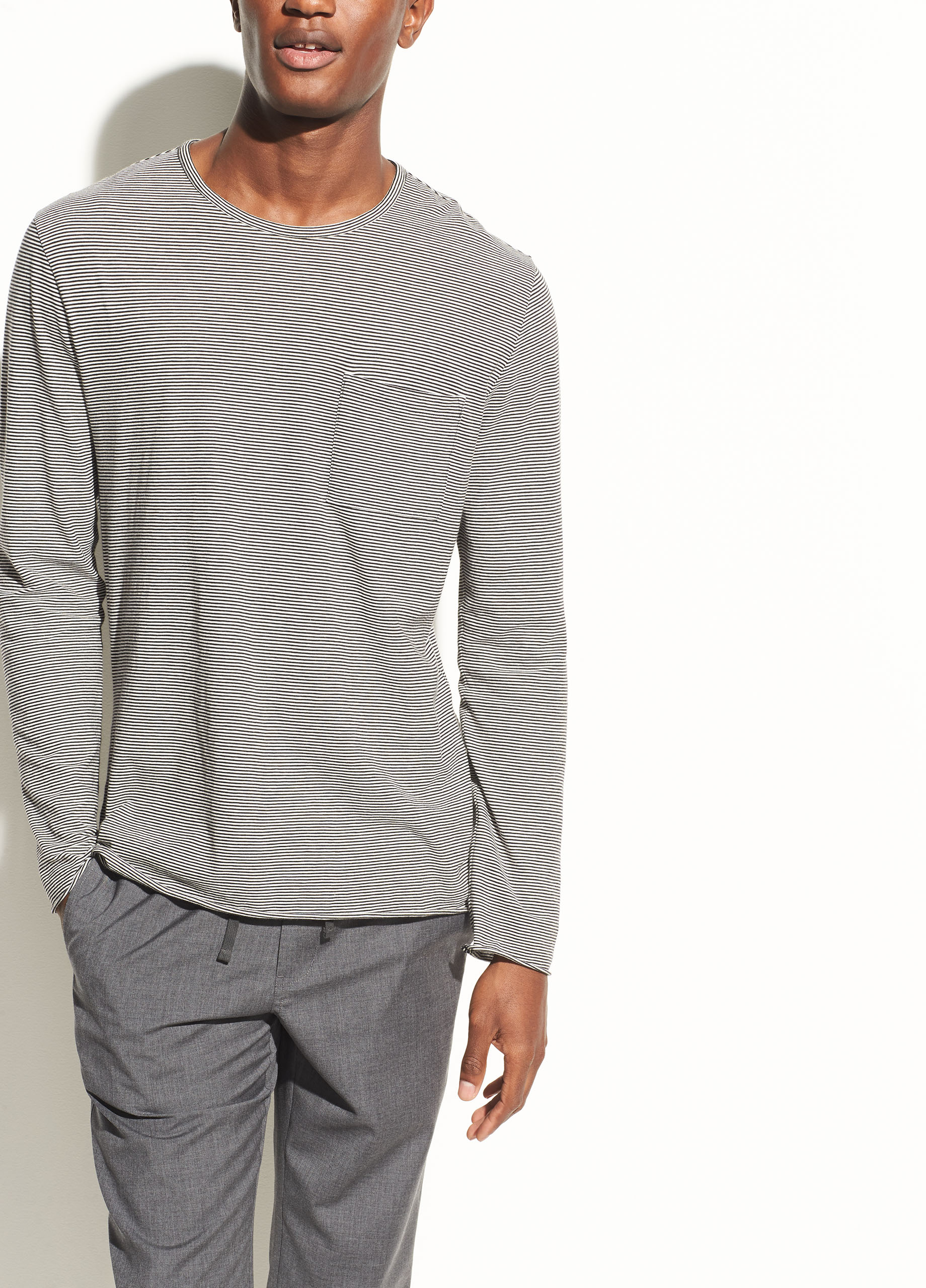 Hooded Pima Cotton Henley