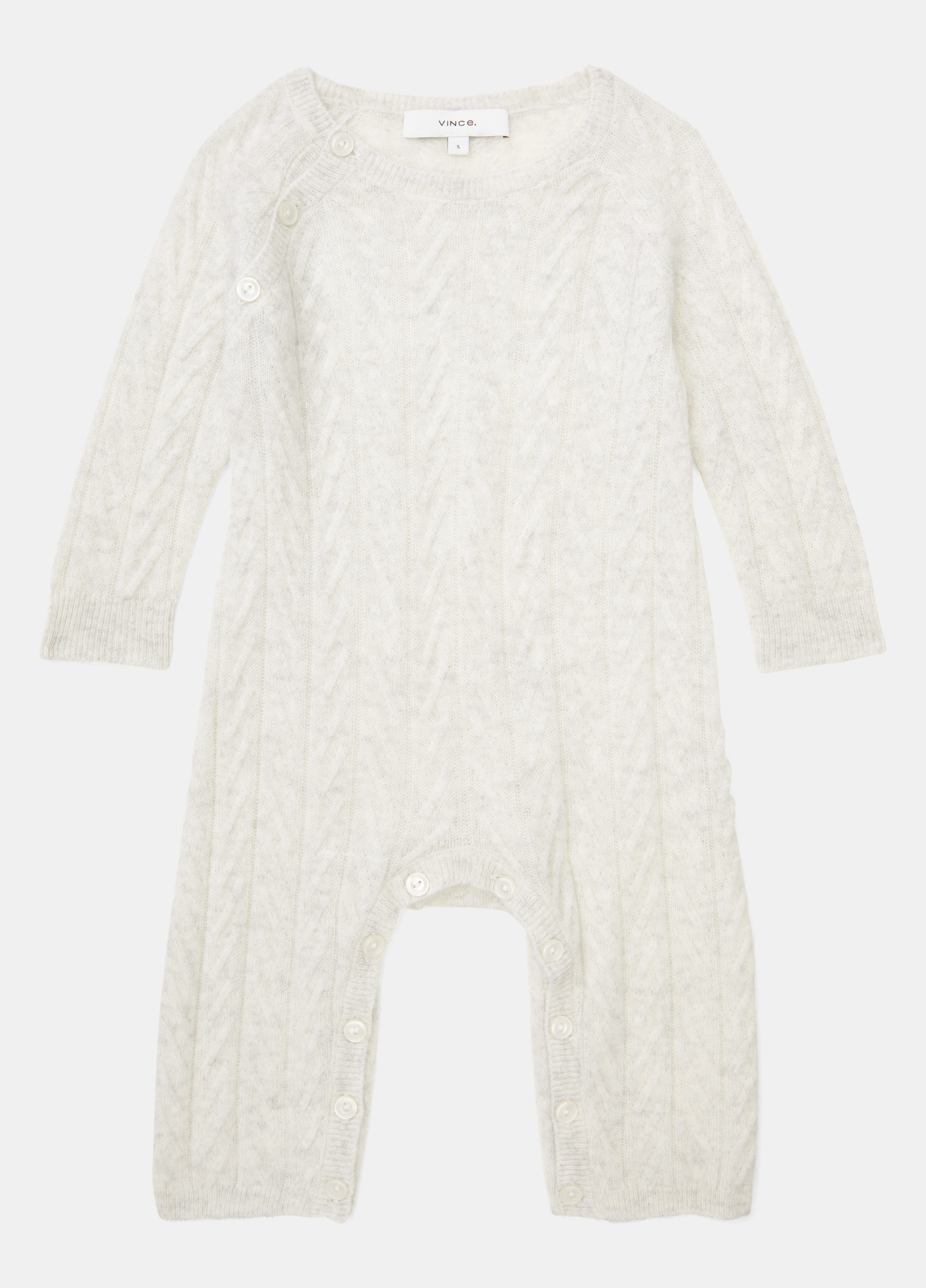 Baby Cashmere Cable Bodysuit
