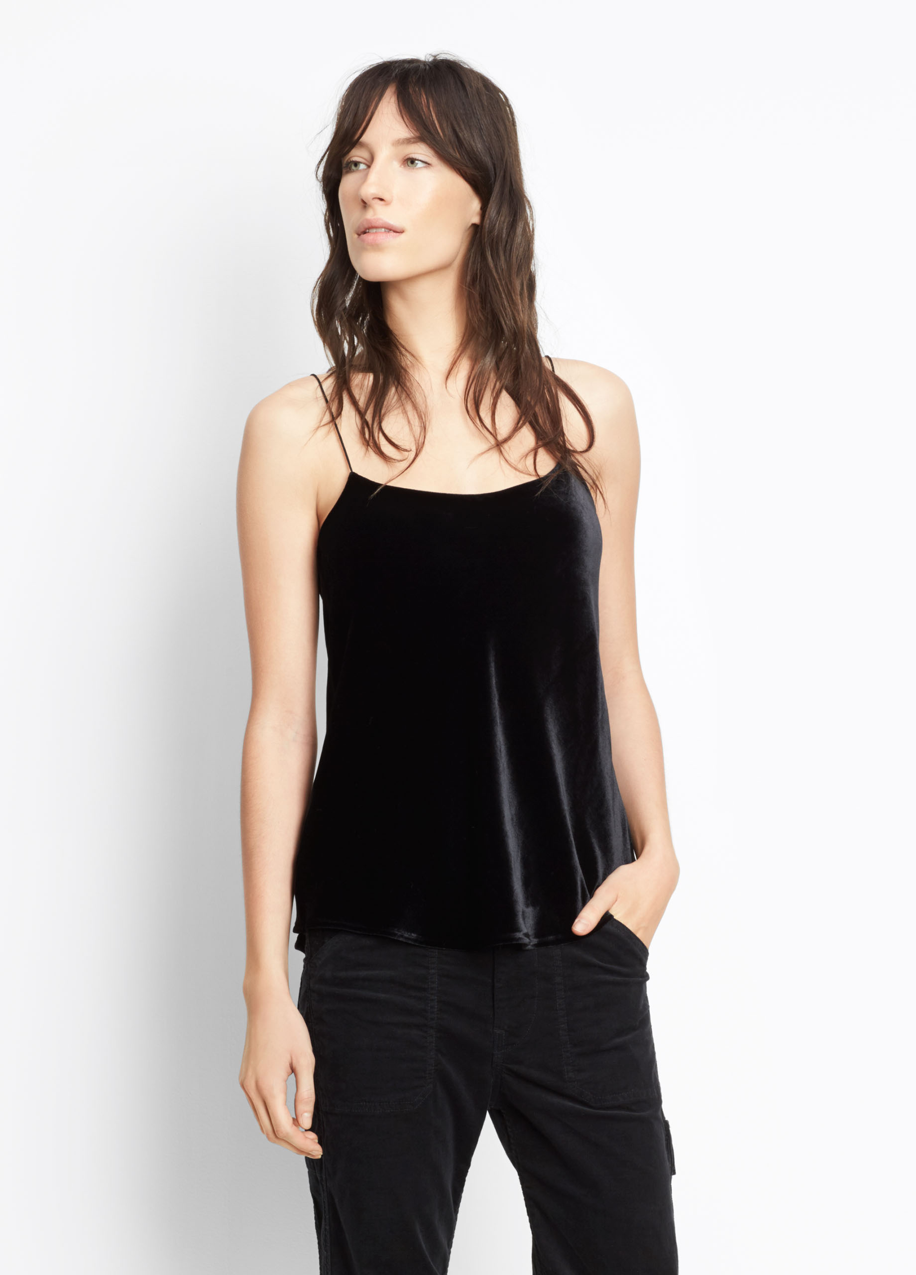 Cropped Leather Split Hem
