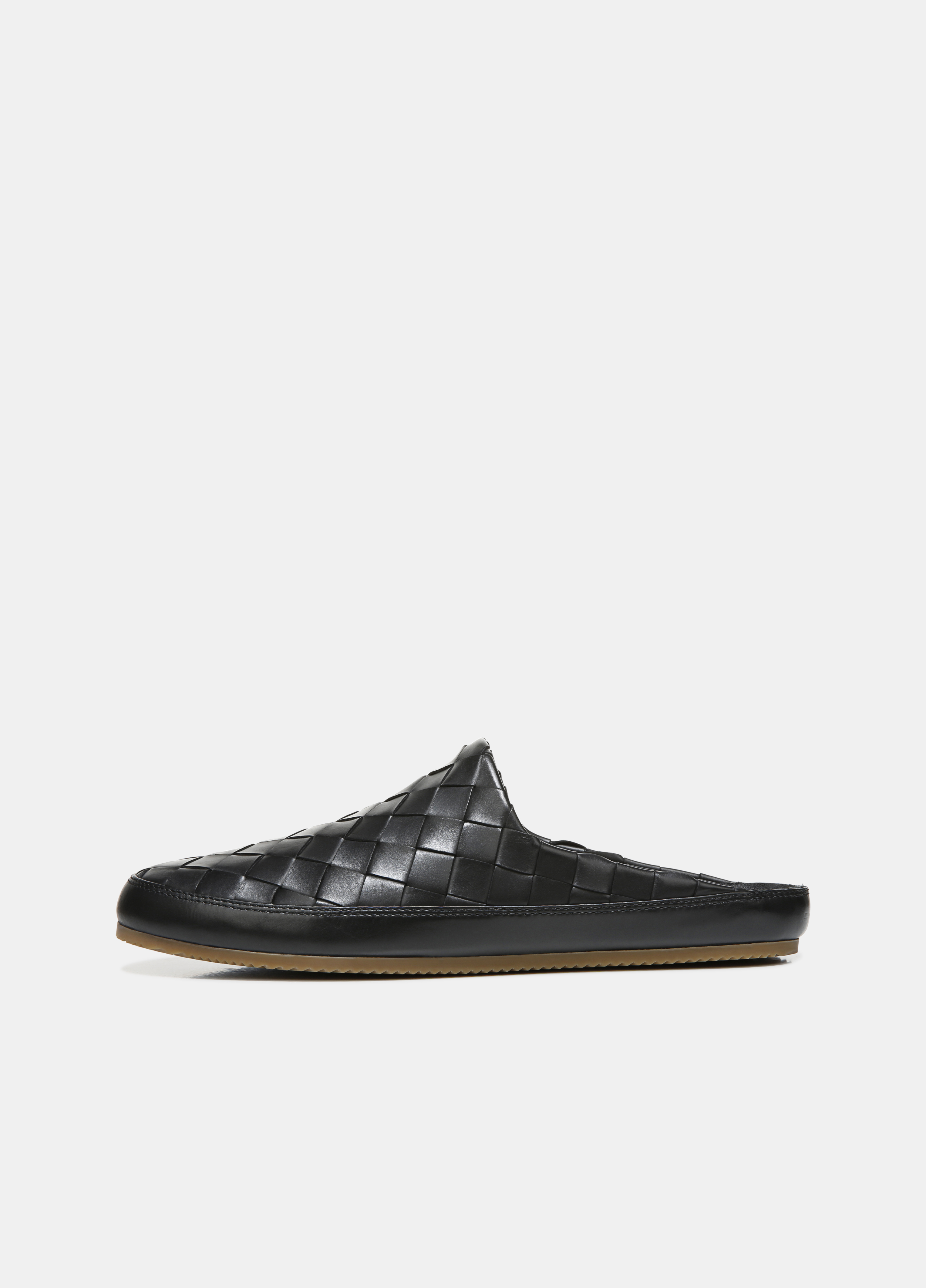 Woven Leather Alonzo Backless Loafer