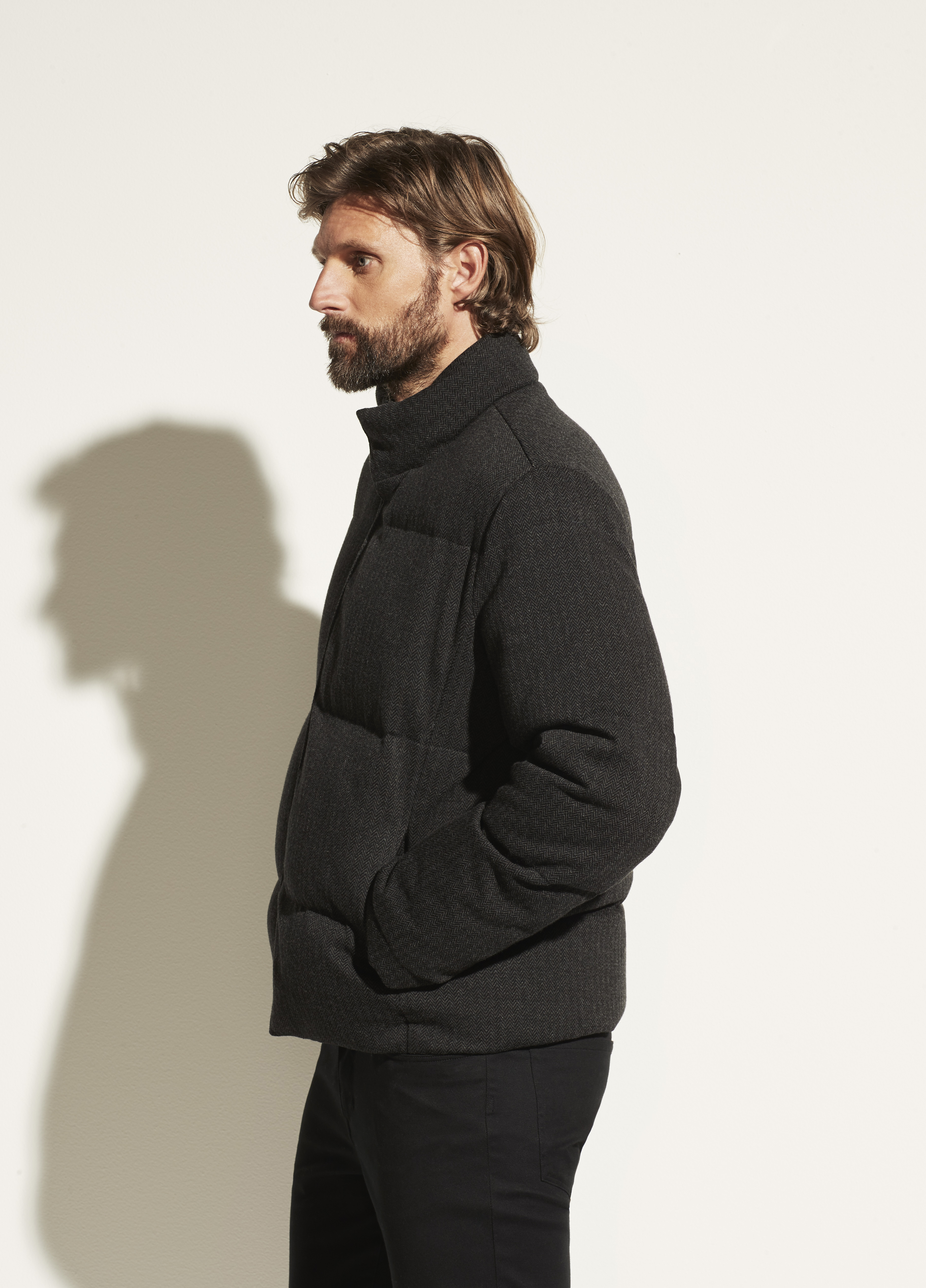 Herringbone Puffer Jacket