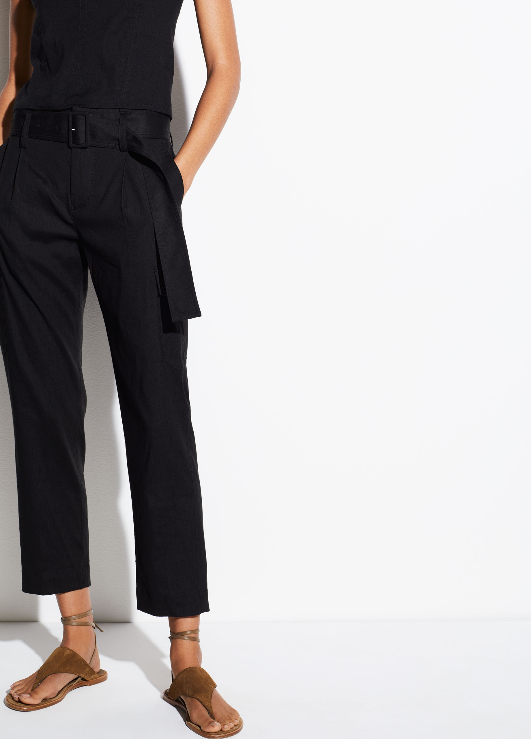 Belted Linen Pant For Women Vince