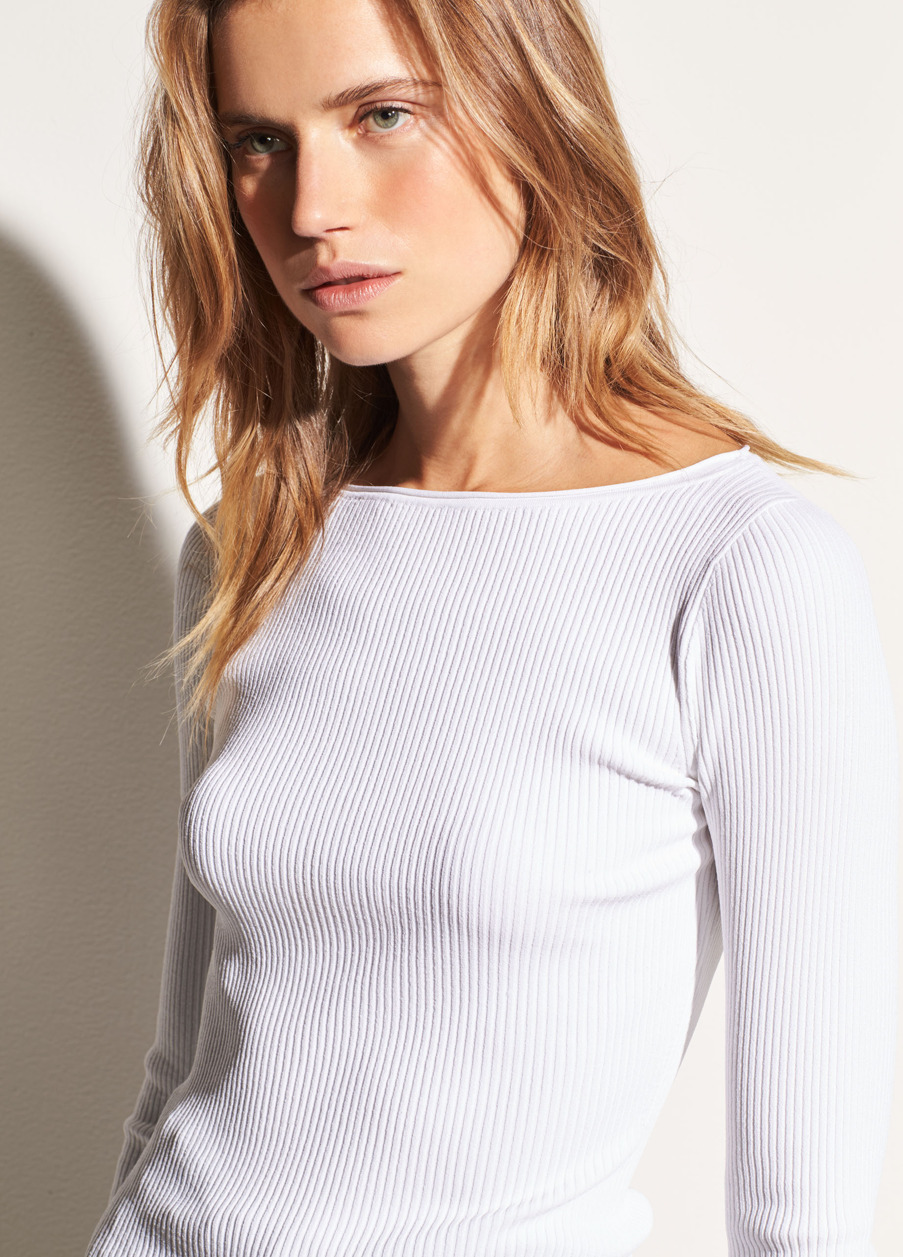 Marled Raglan Ribbed Wool and Cashmere Boatneck