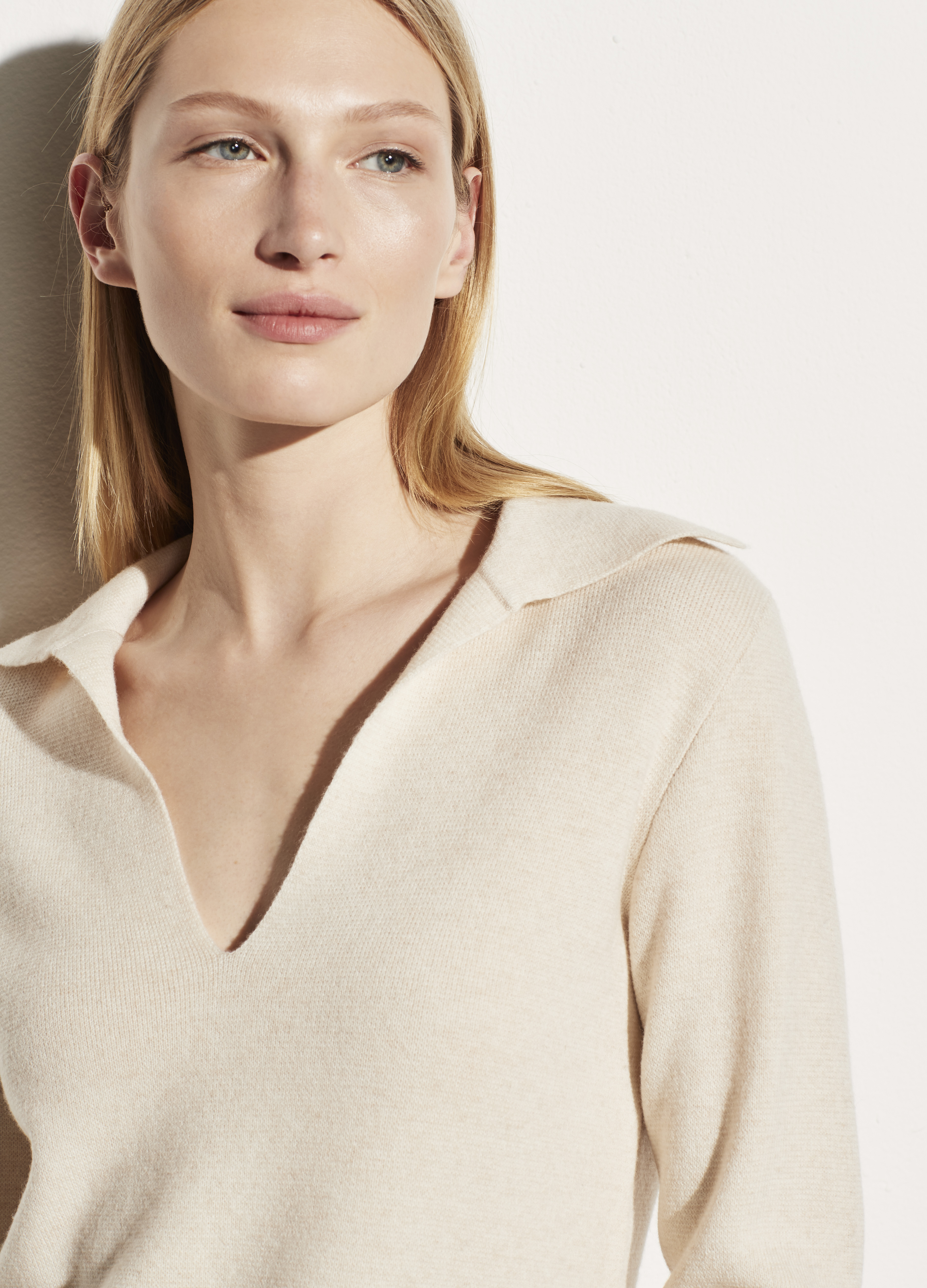 Wool Cashmere Fitted Polo