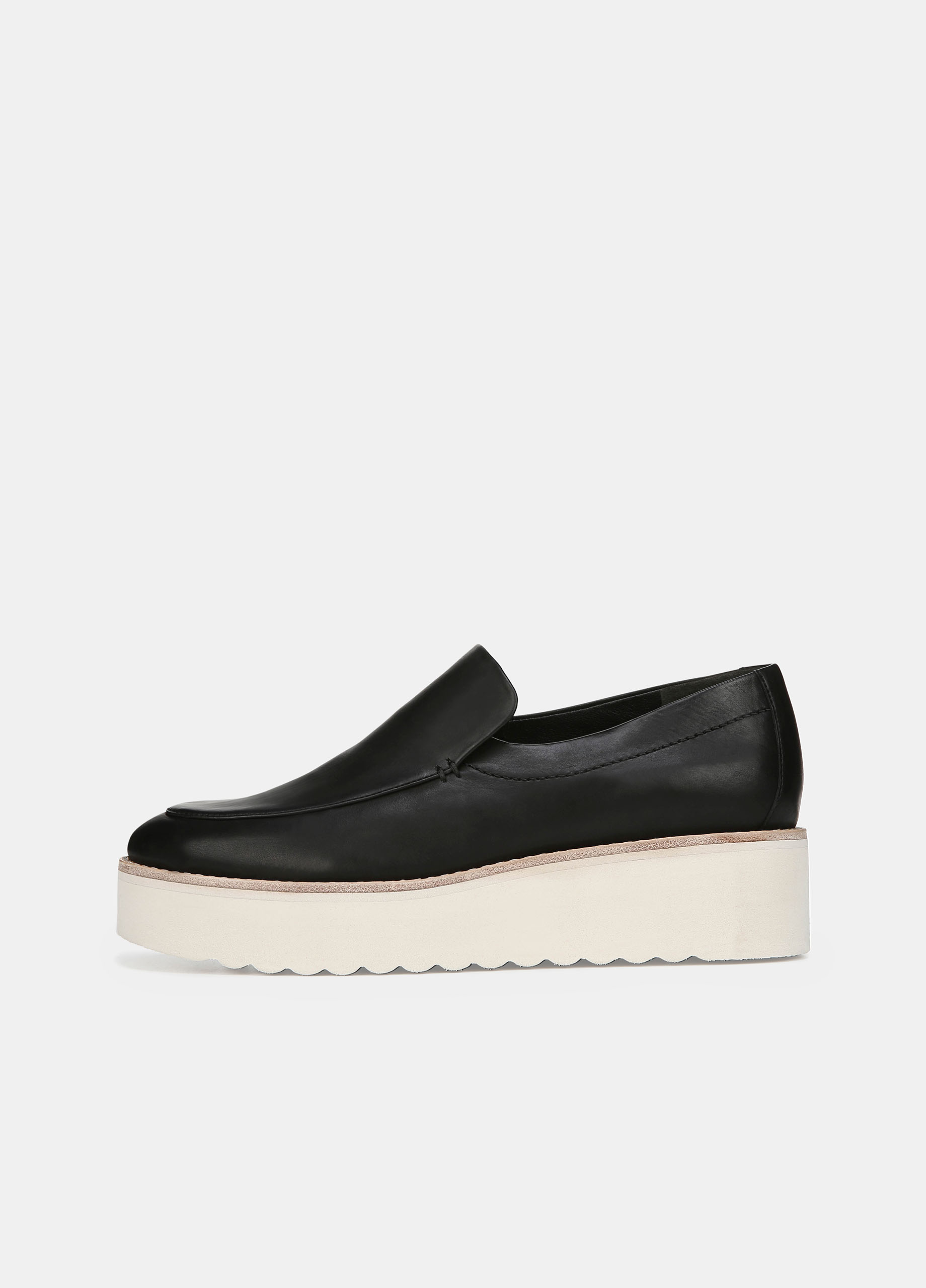 Leather Zeta Platform Loafer by Vince