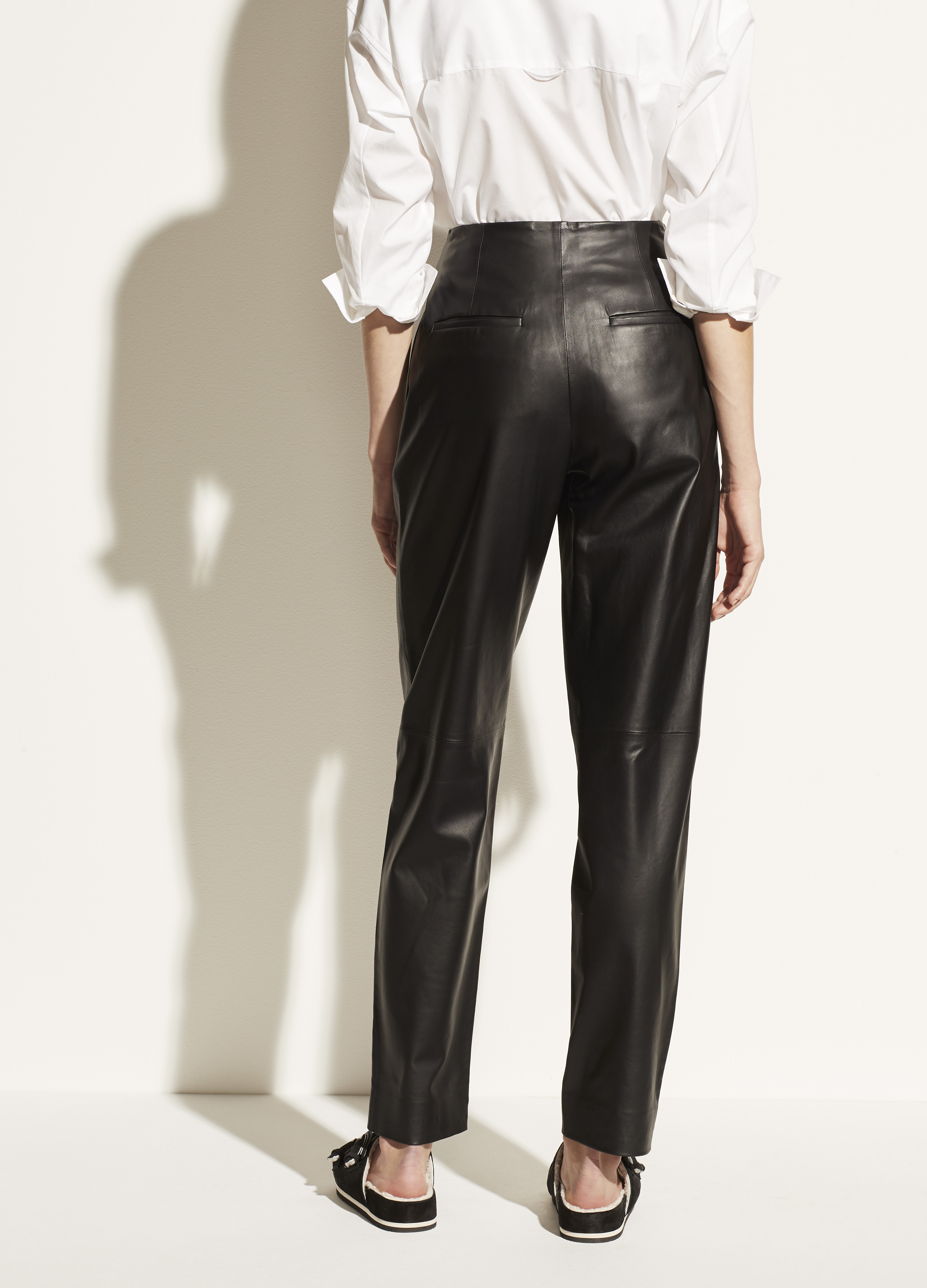 Tapered Leather Pant