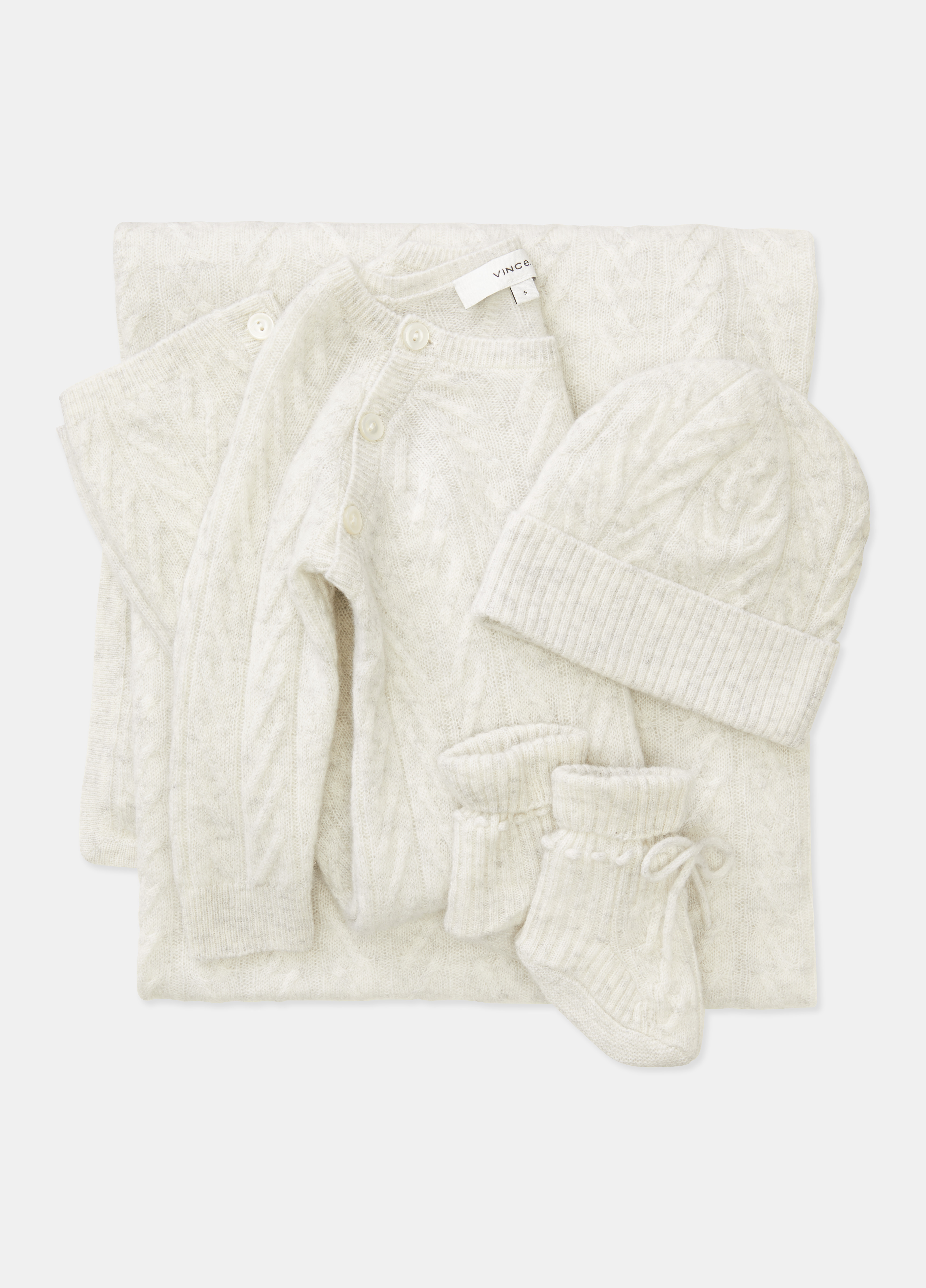 Baby Cashmere Cable Blanket