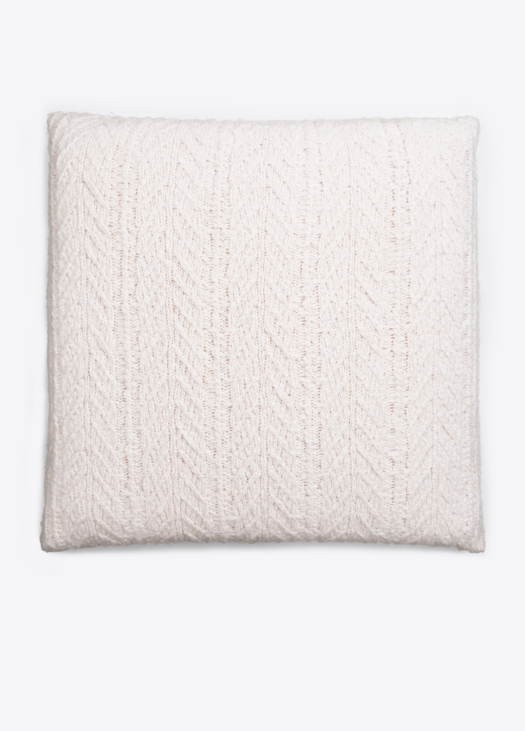 Cable-Knit Wool and Cashmere Pillow