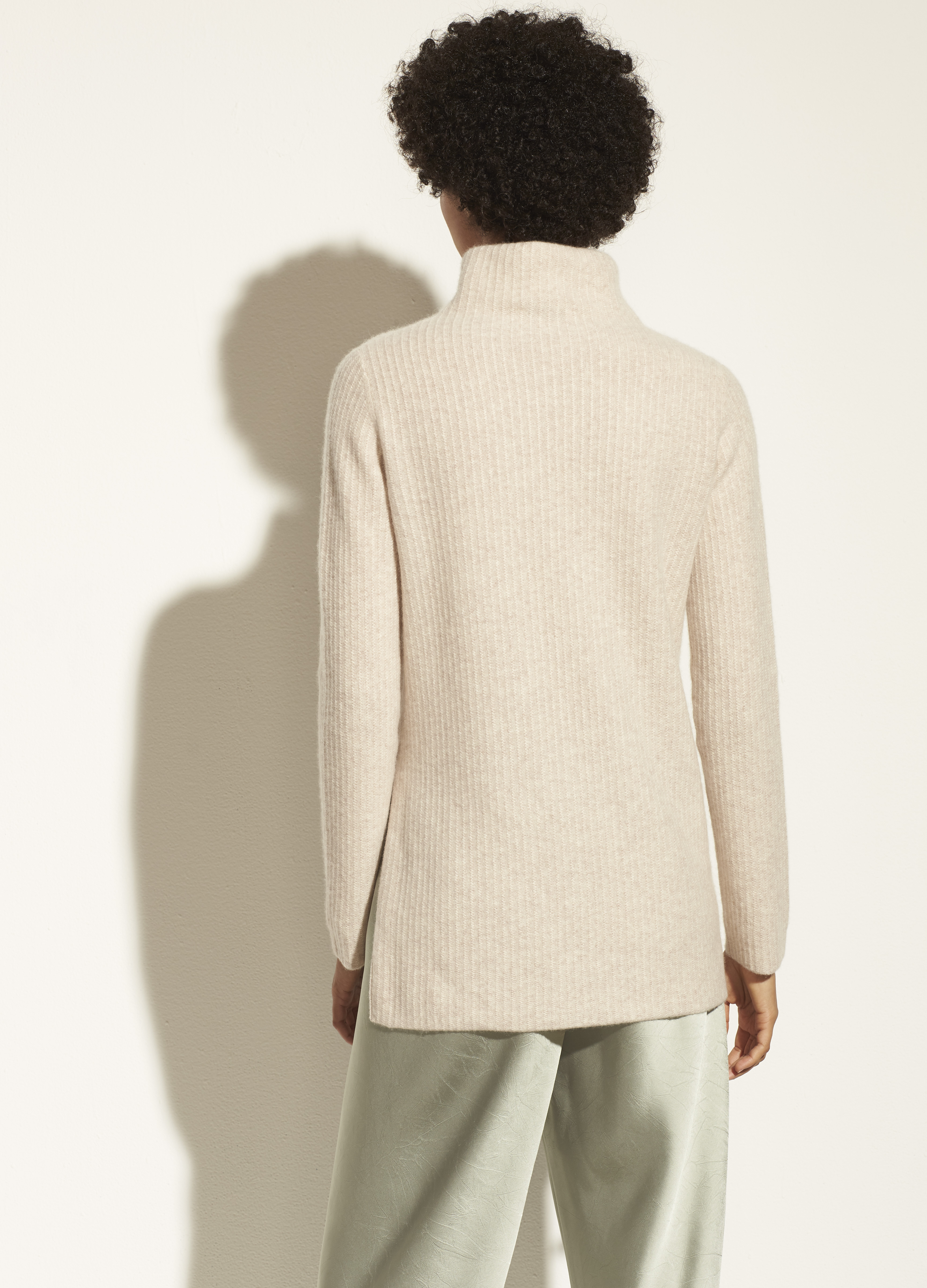 Boiled Cashmere Turtleneck Tunic