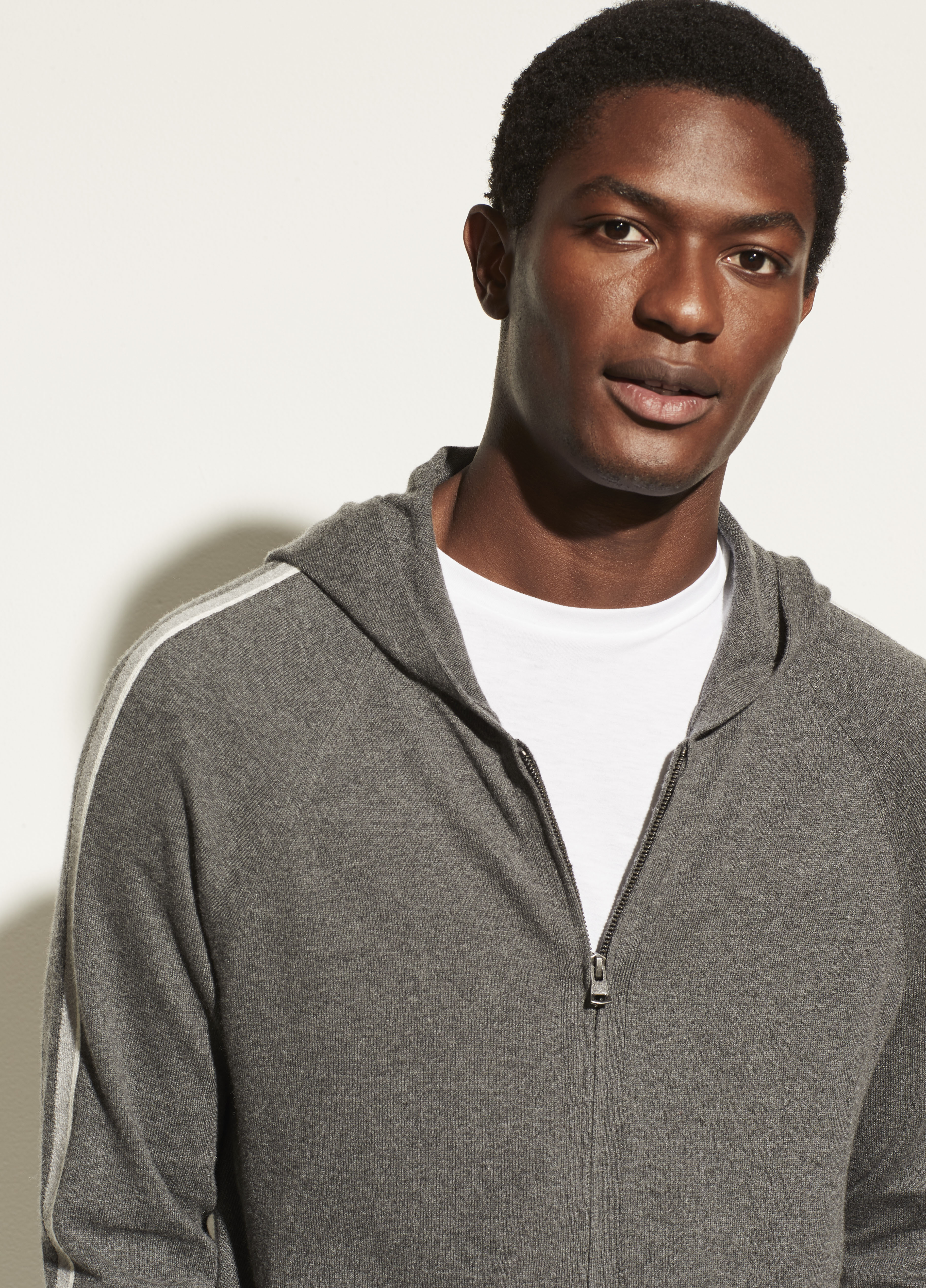 Cotton Cashmere Full Zip Hoodie