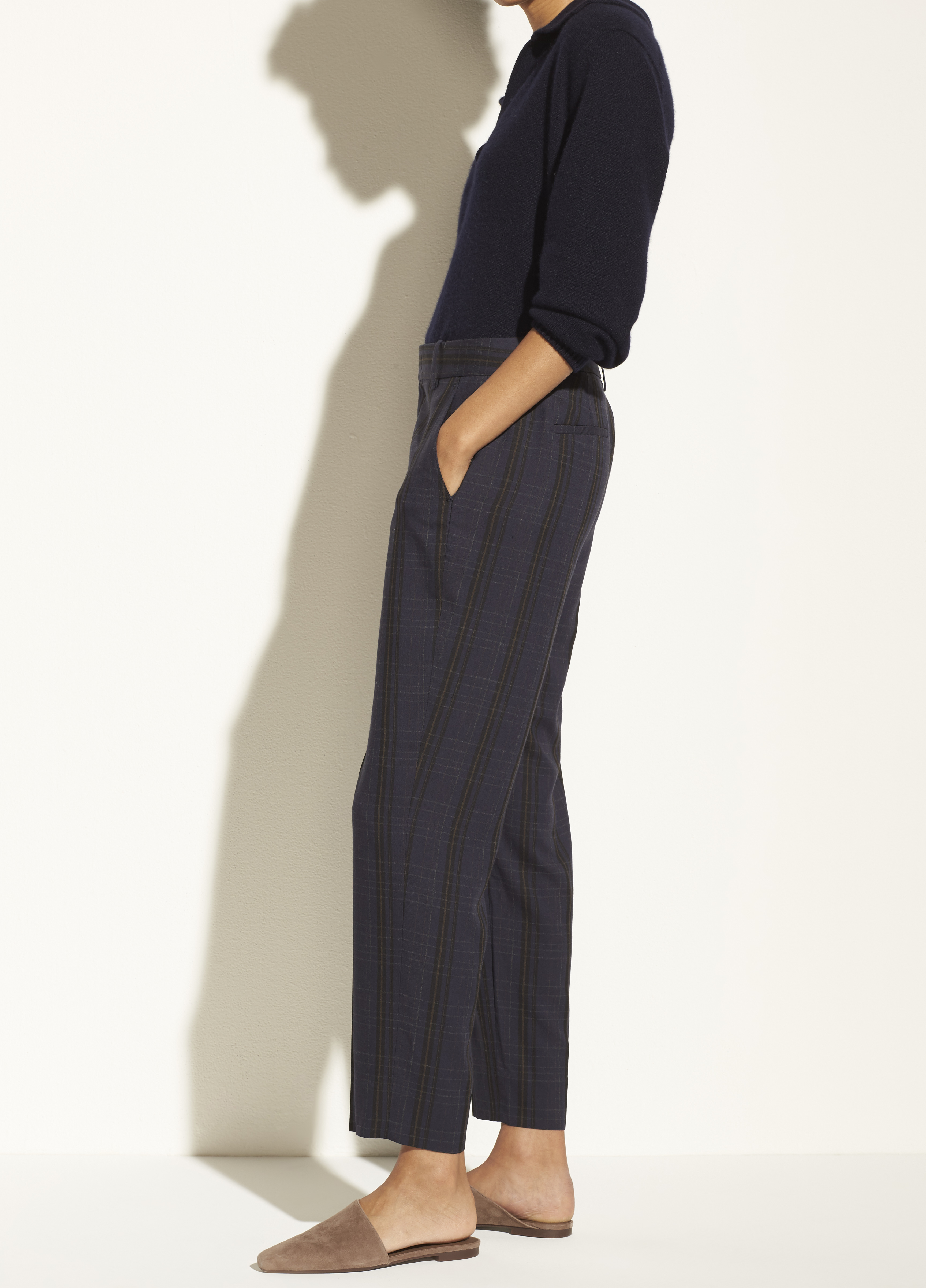 Plaid Tapered Trouser
