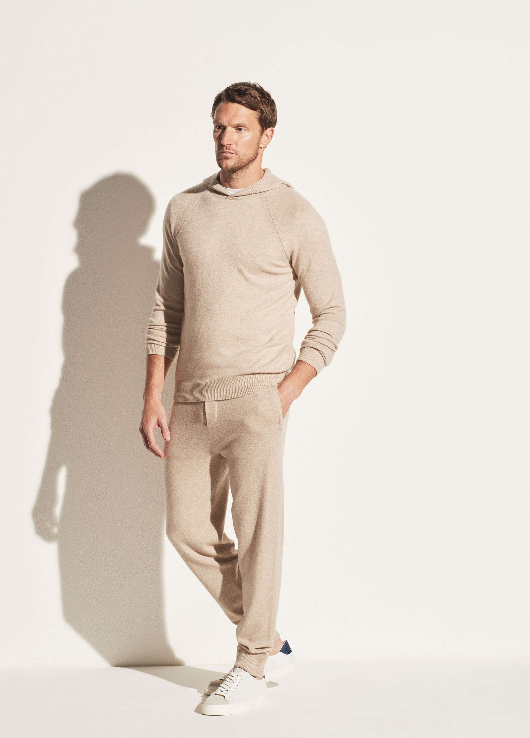 Wool Cashmere Hooded Pullover