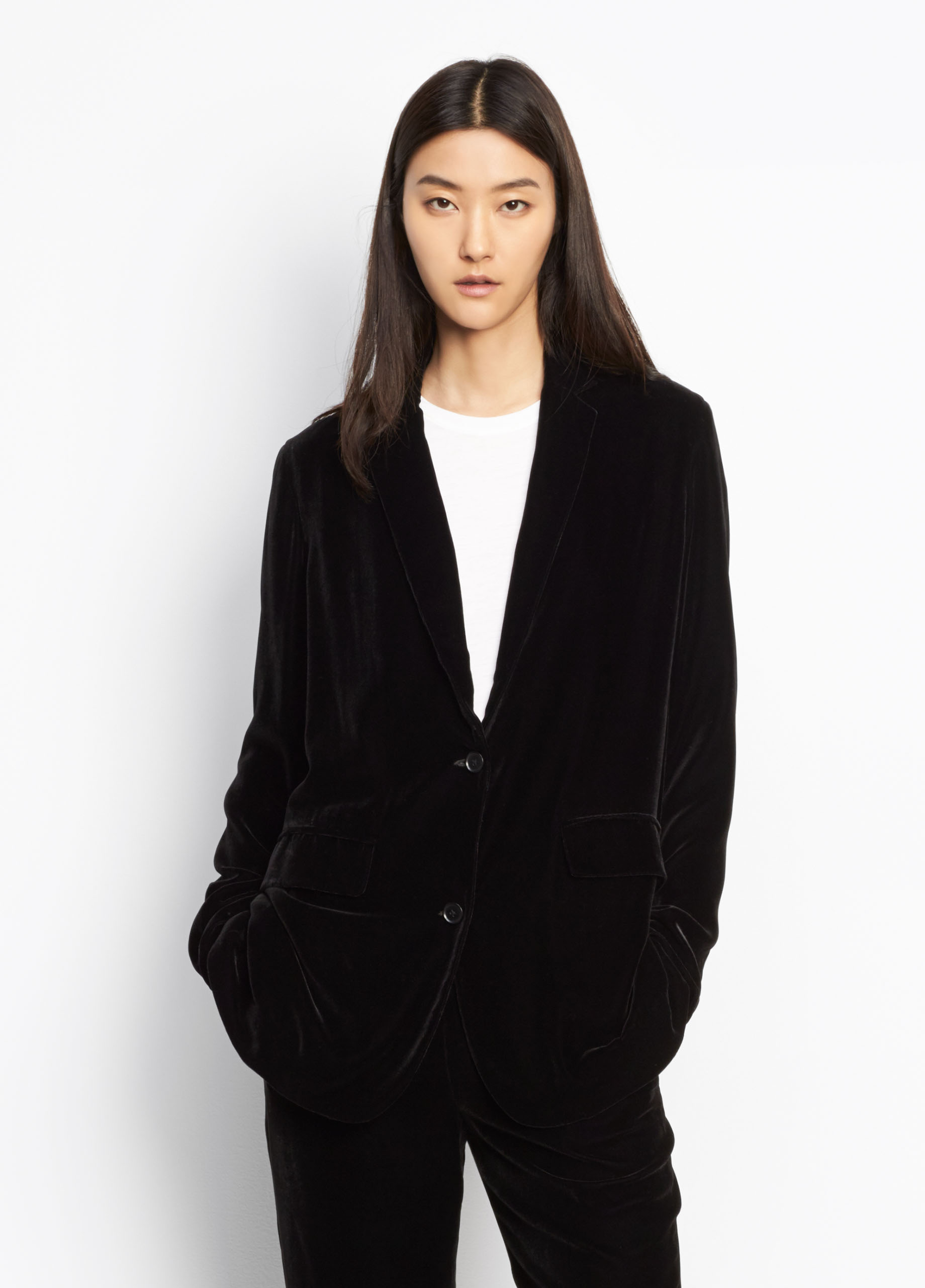 Velvet Boyfriend Blazer for Women | Vince