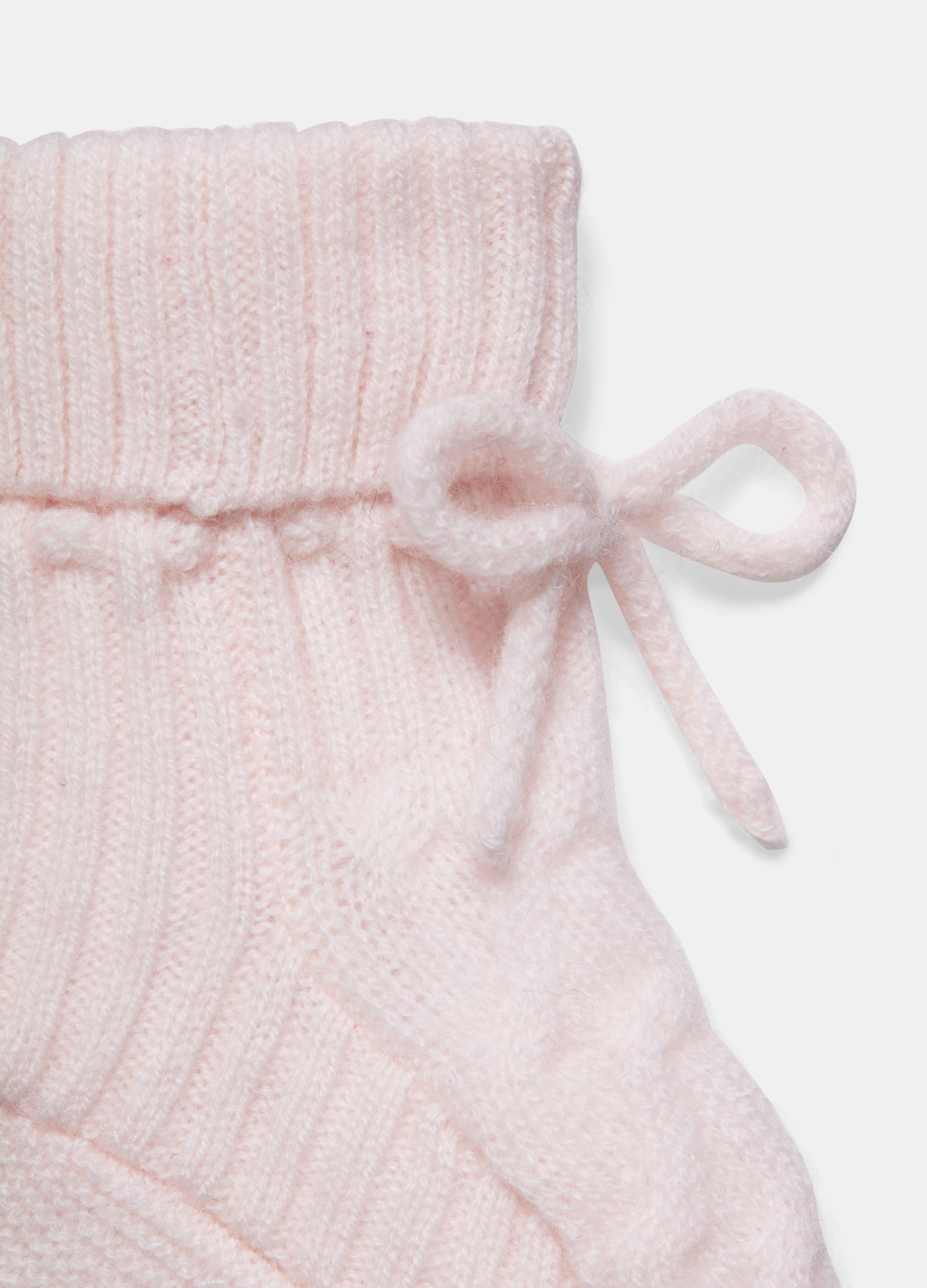 Baby Cashmere Cable Booties