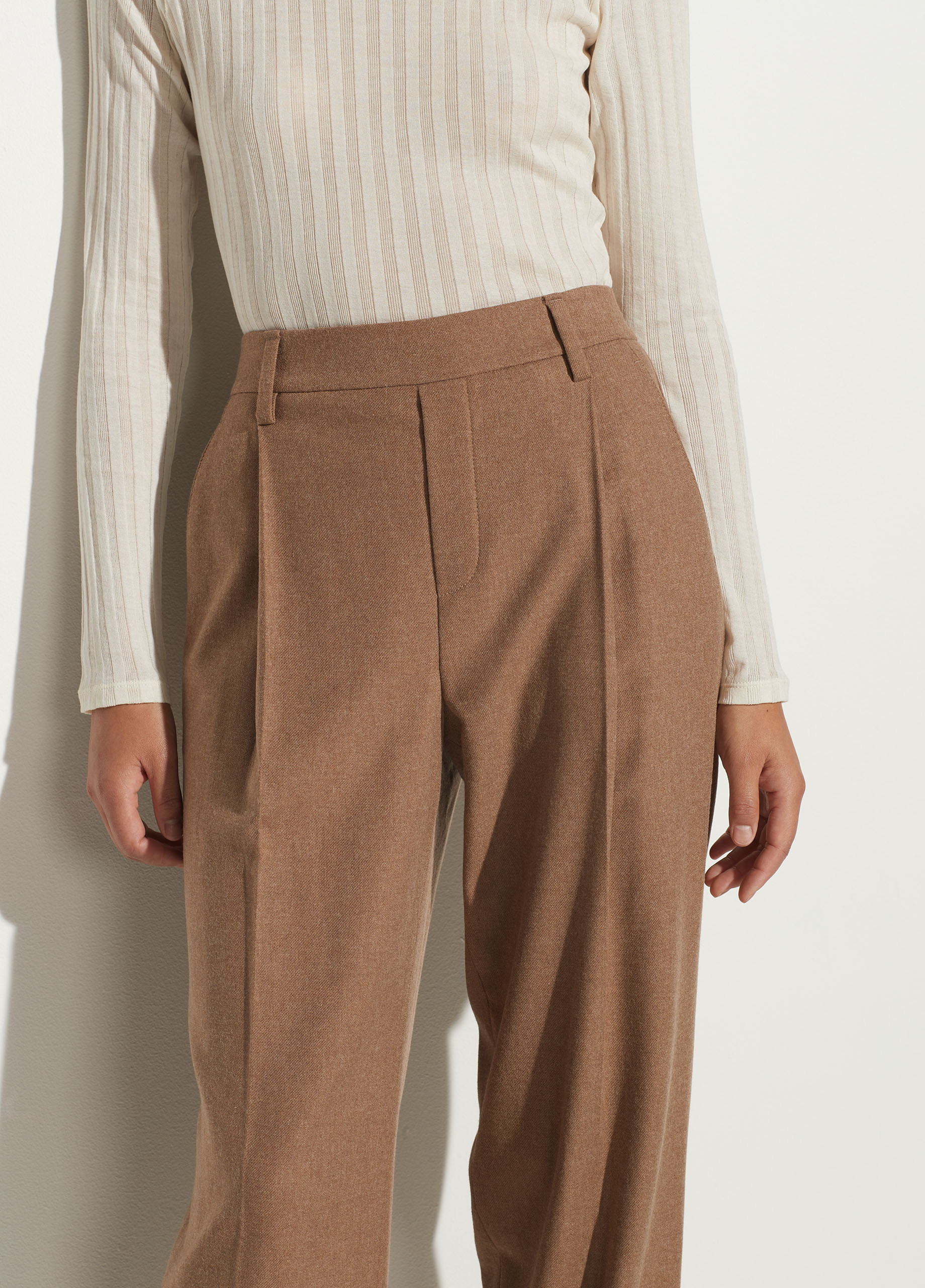 Flannel High Waisted Pull On Pant