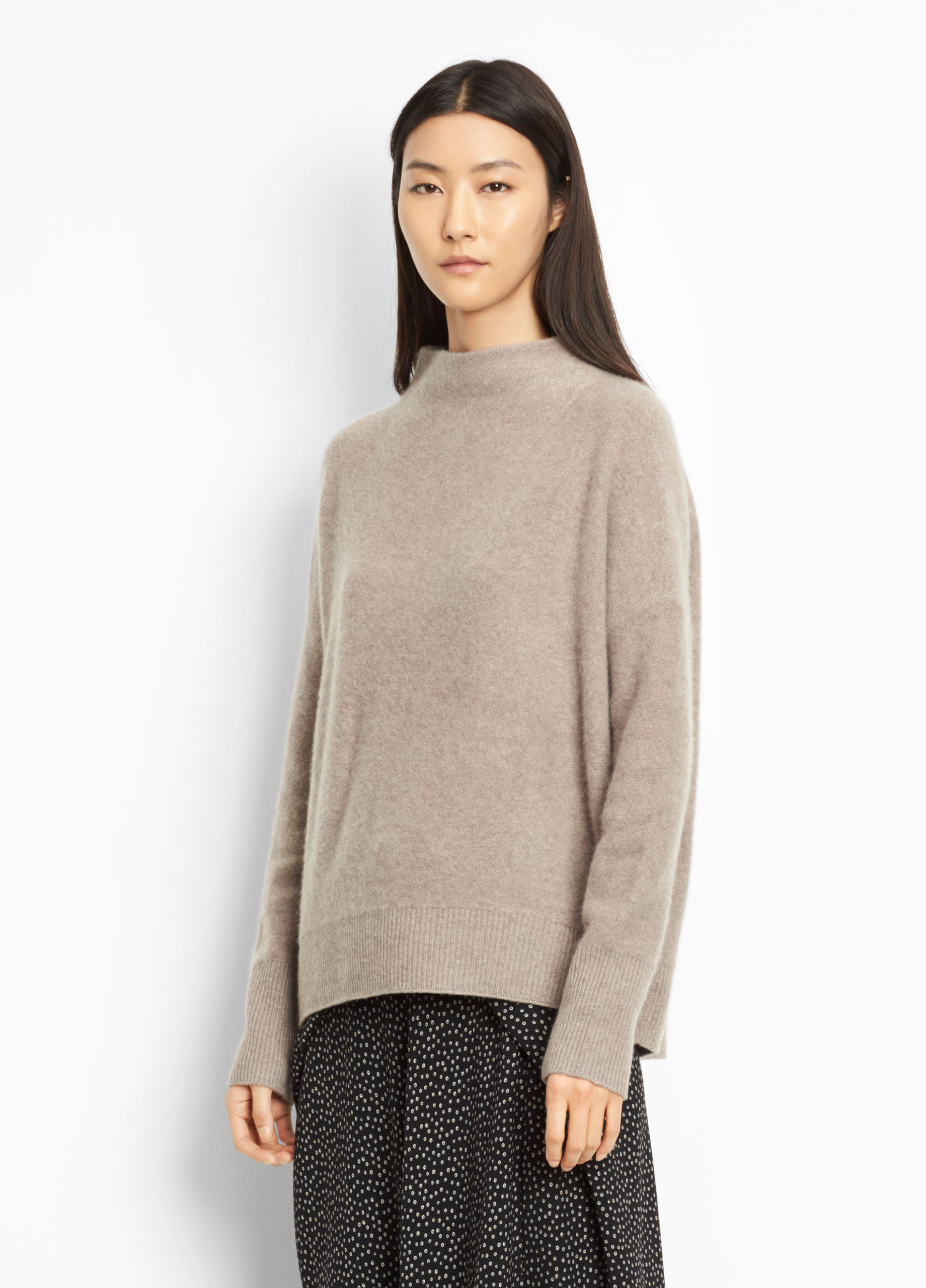 Cashmere Funnel Neck Pullover for Women | Vince