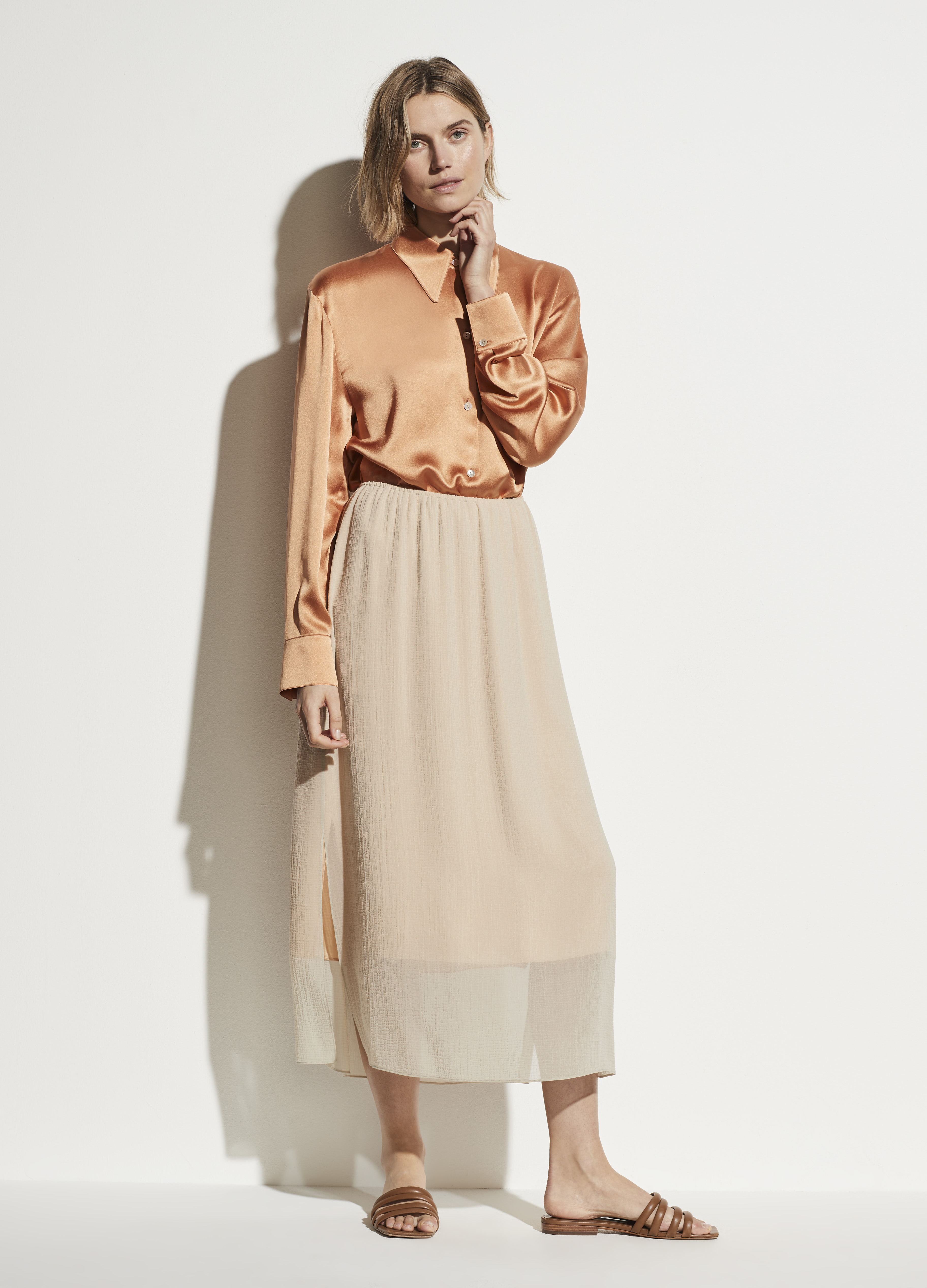 Textured Double Layer Skirt